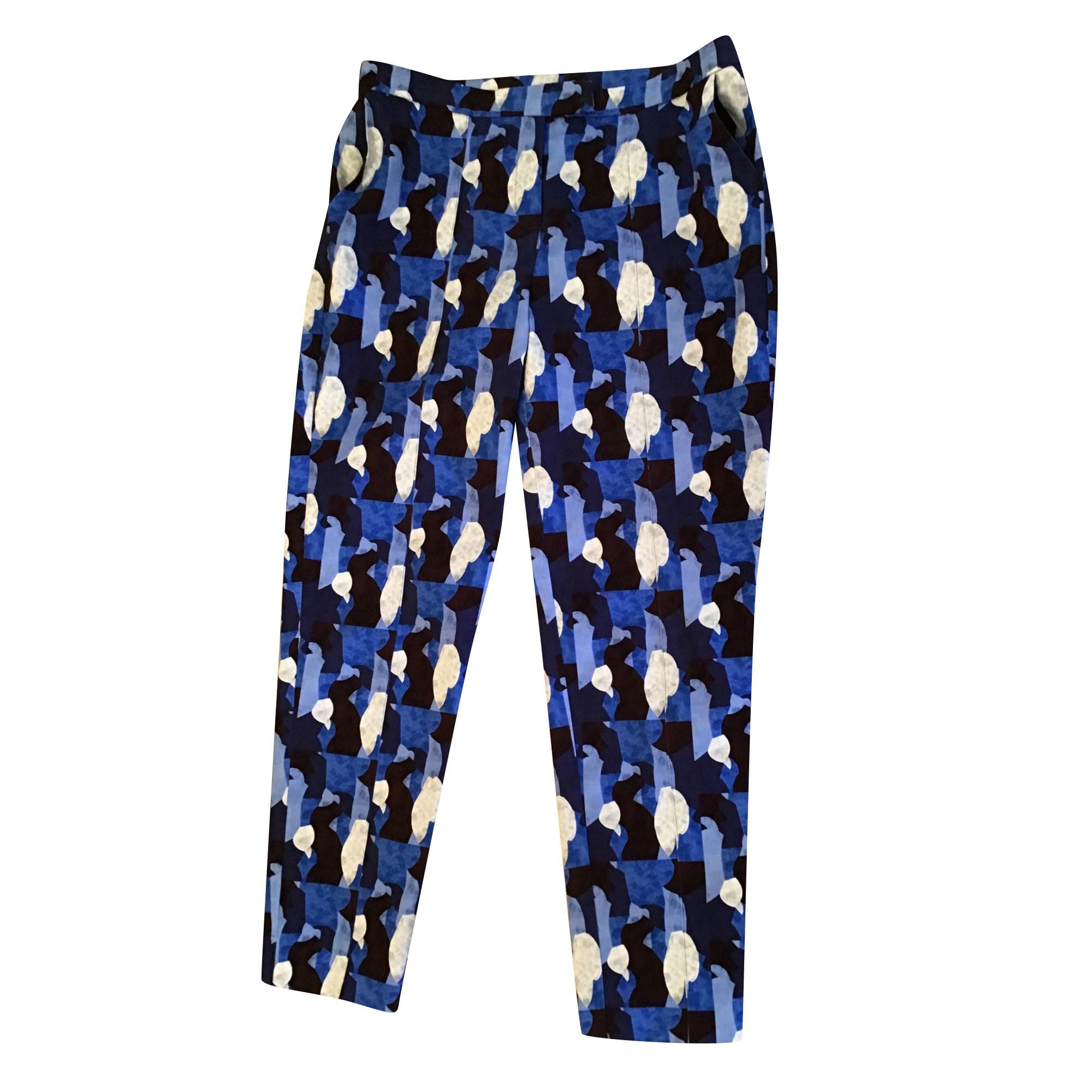 Pantalon slim, cigarette CHACOK Bleu, bleu marine, bleu turquoise