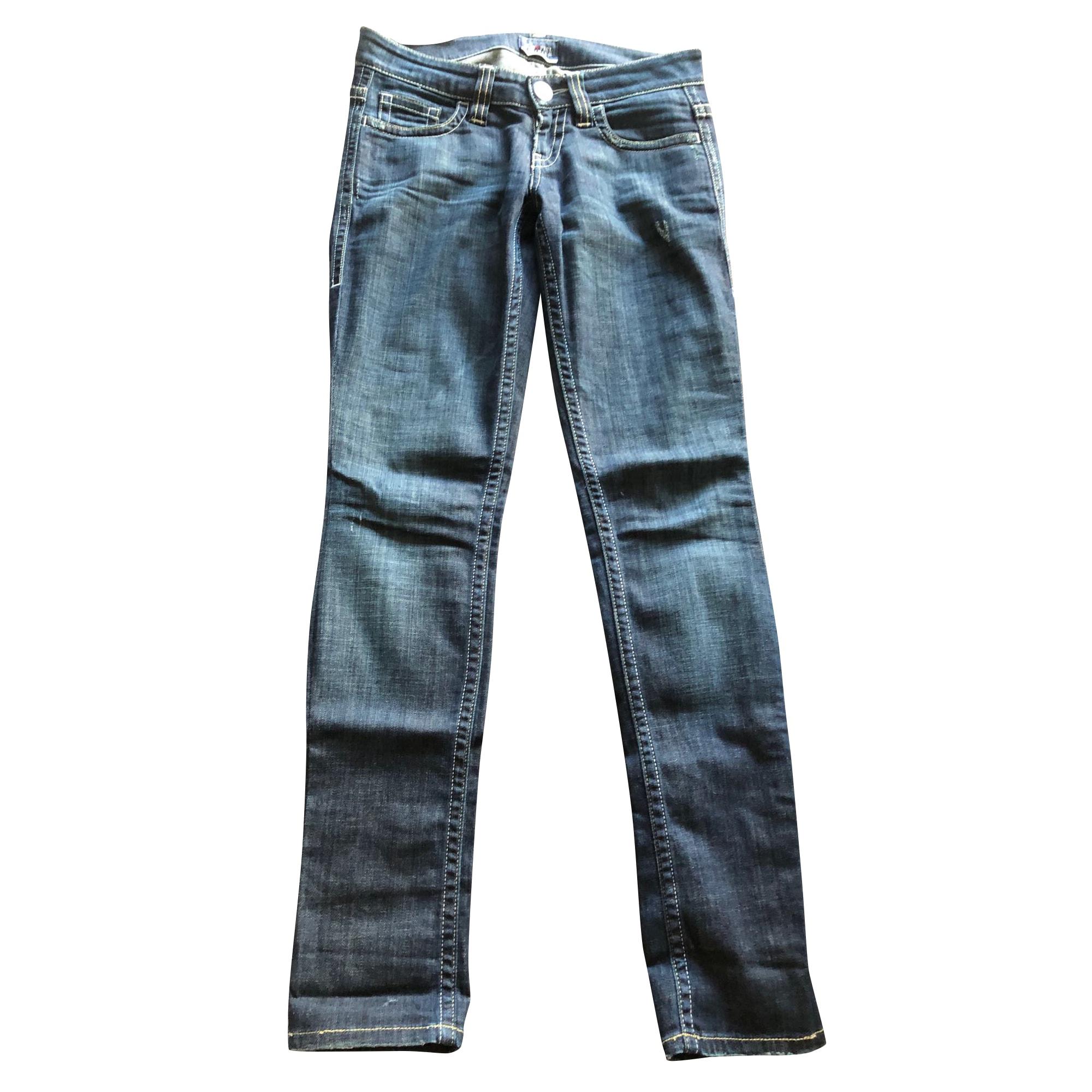 Jeans slim JEAN PAUL GAULTIER Bleu, bleu marine, bleu turquoise