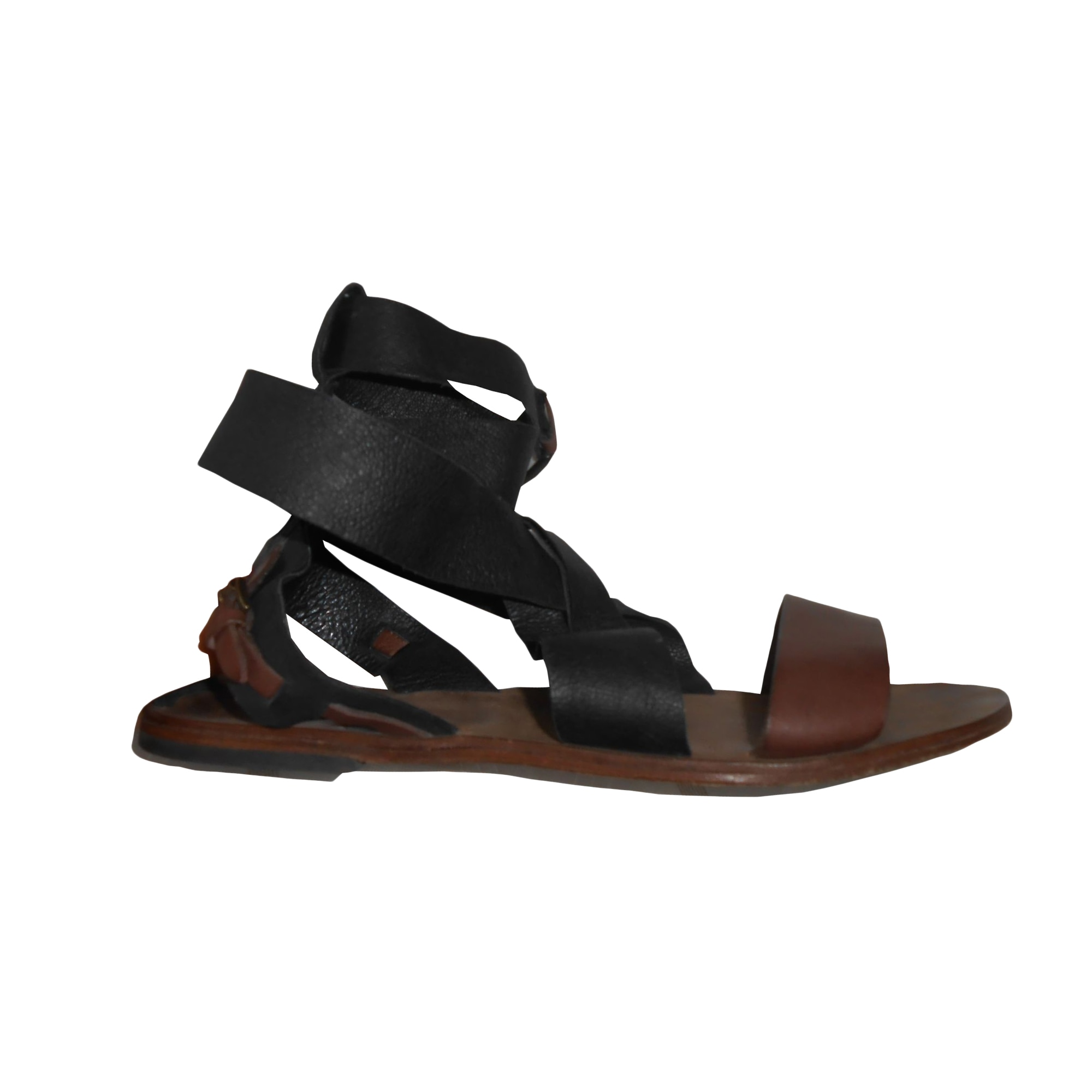 Sandales plates  SANDRO Noir