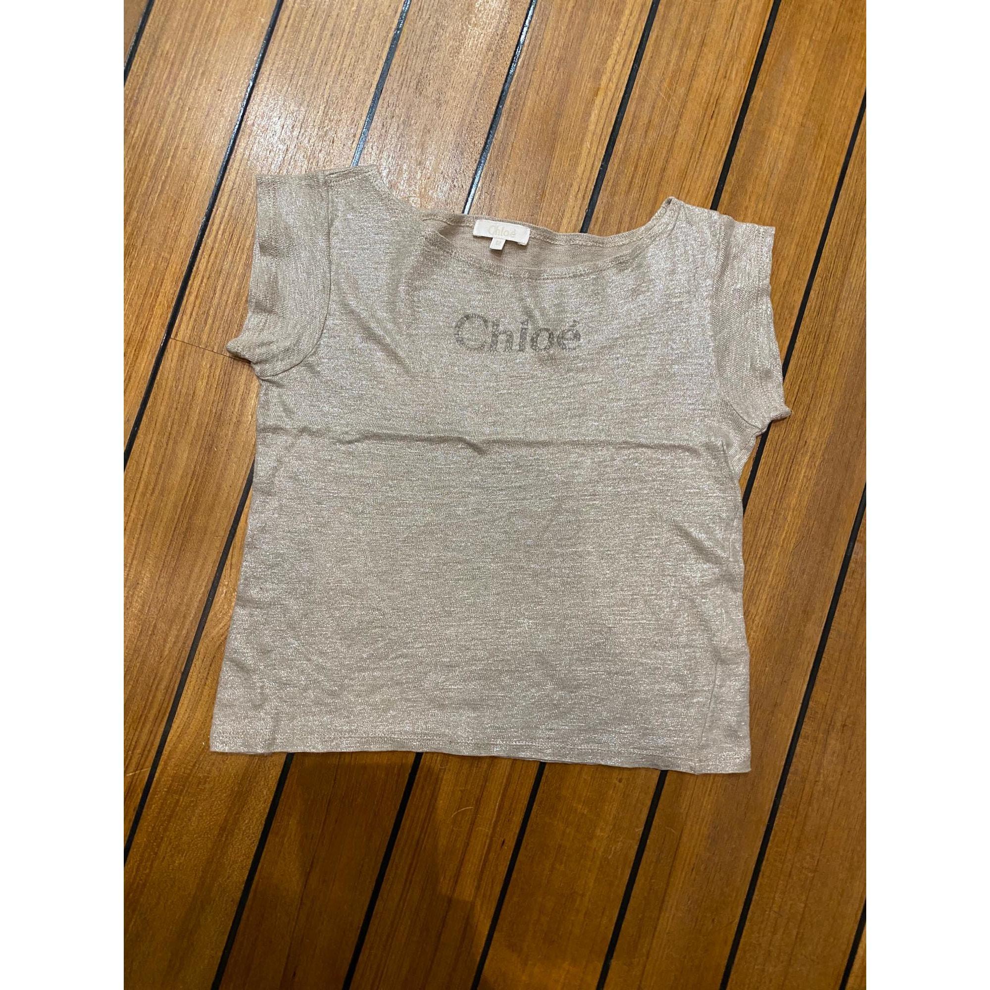 Top, Tee-shirt CHLOÉ Doré, bronze, cuivre