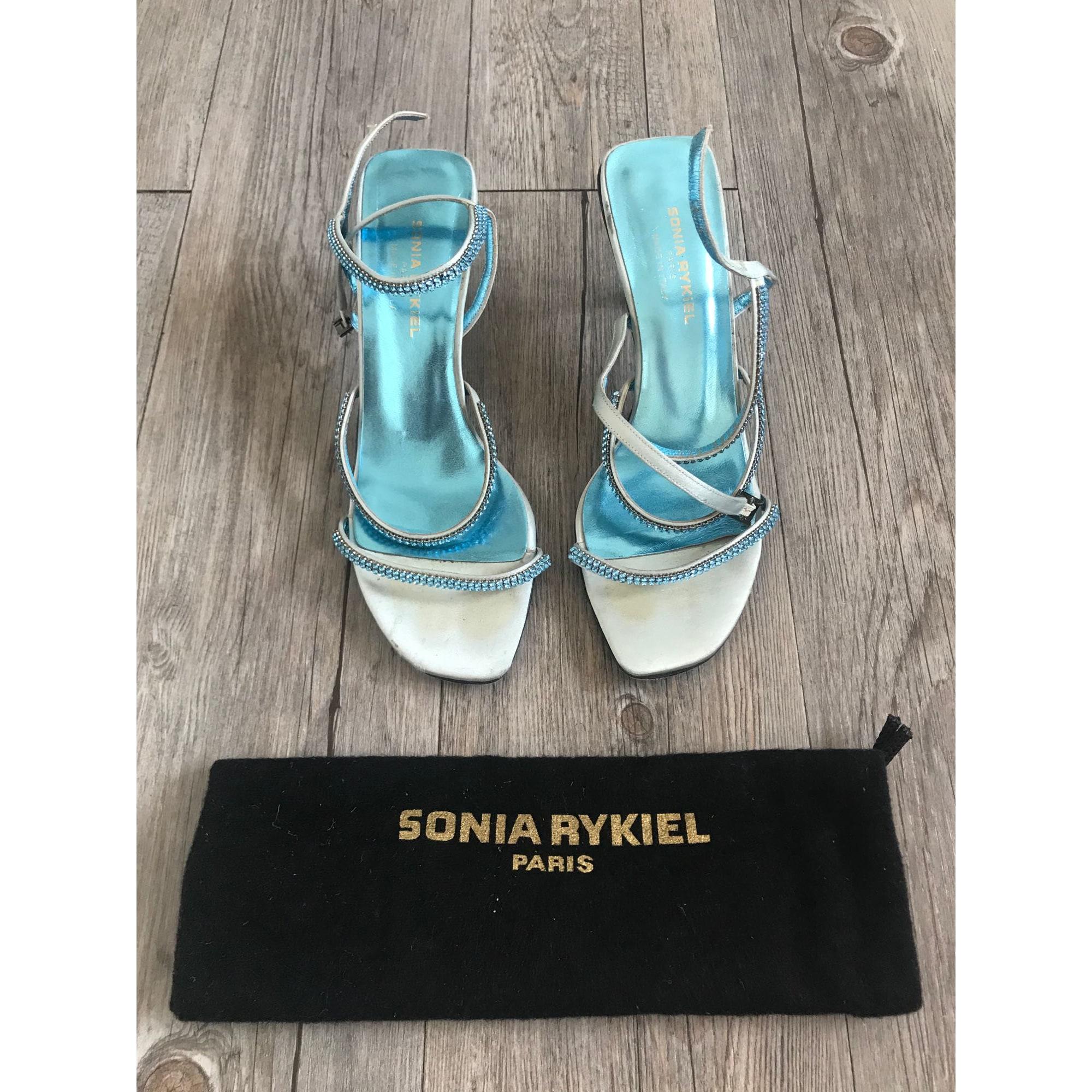 Sandales à talons SONIA RYKIEL Bleu, bleu marine, bleu turquoise
