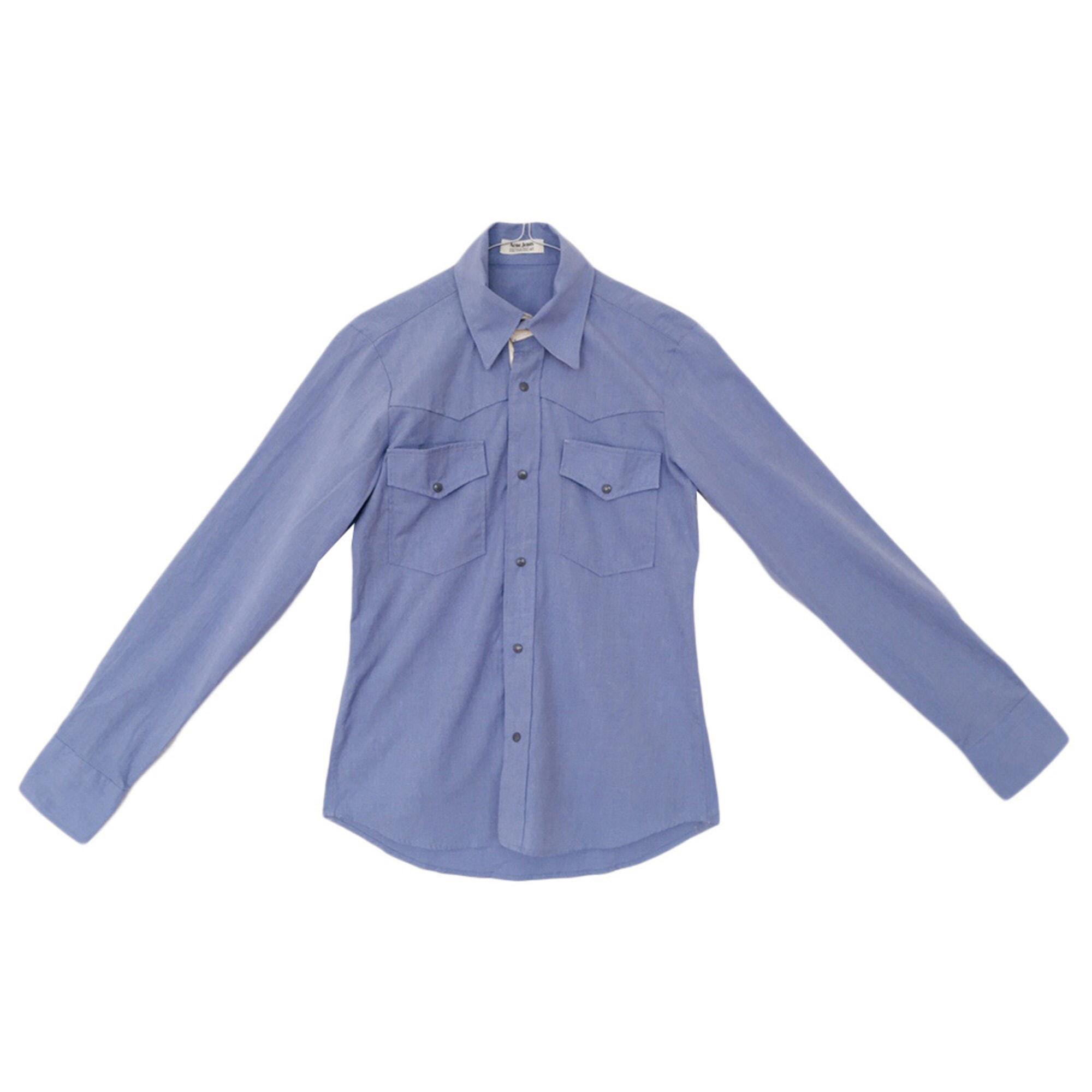 Chemise ACNE Bleu, bleu marine, bleu turquoise