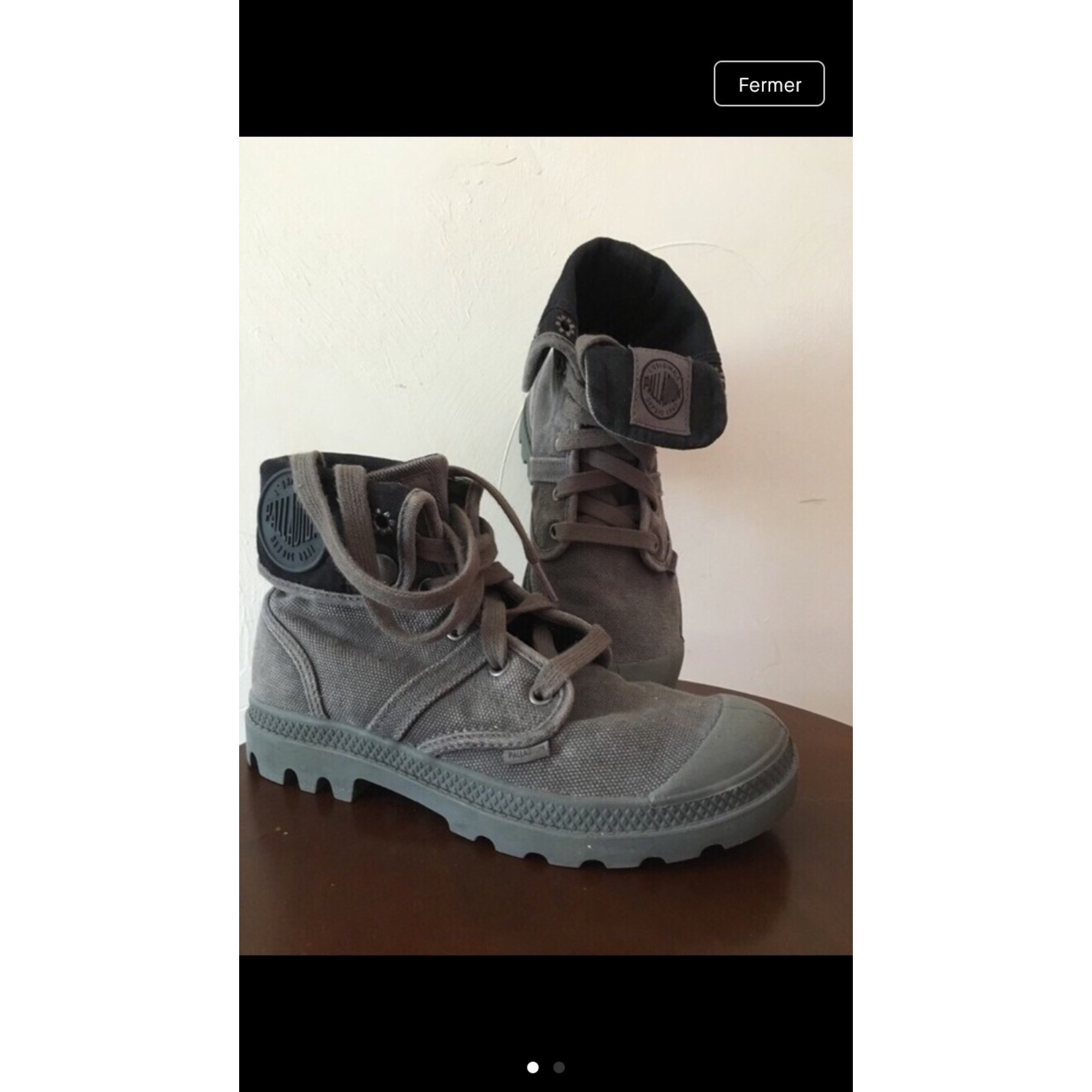 Chaussures à lacets  PALLADIUM Gris, anthracite