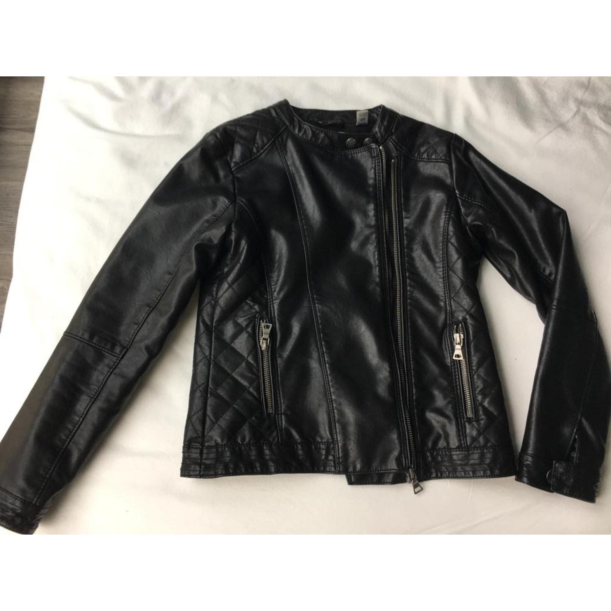 Blouson en cuir OKAÏDI Noir