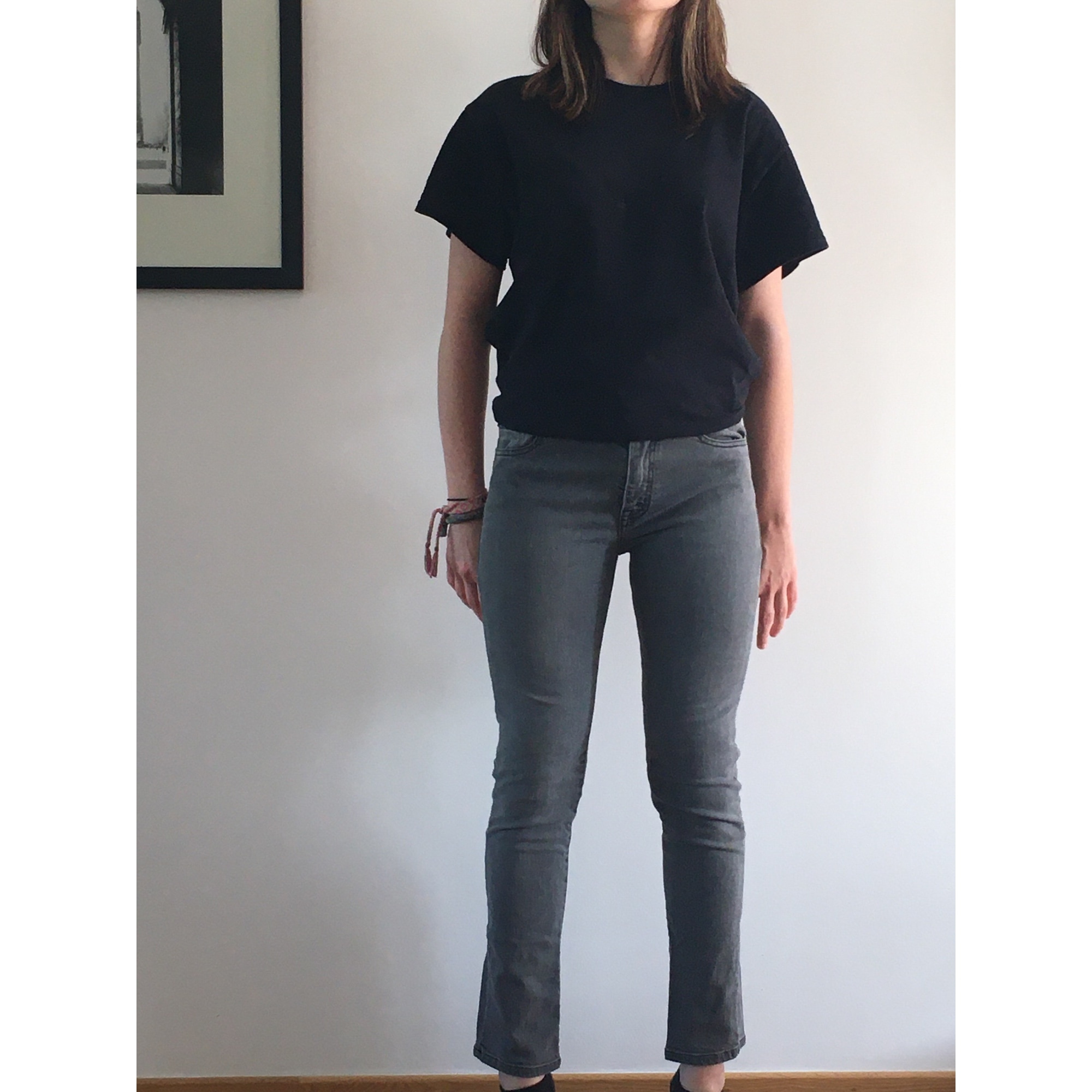 Jeans slim THE KOOPLES Gris foncé