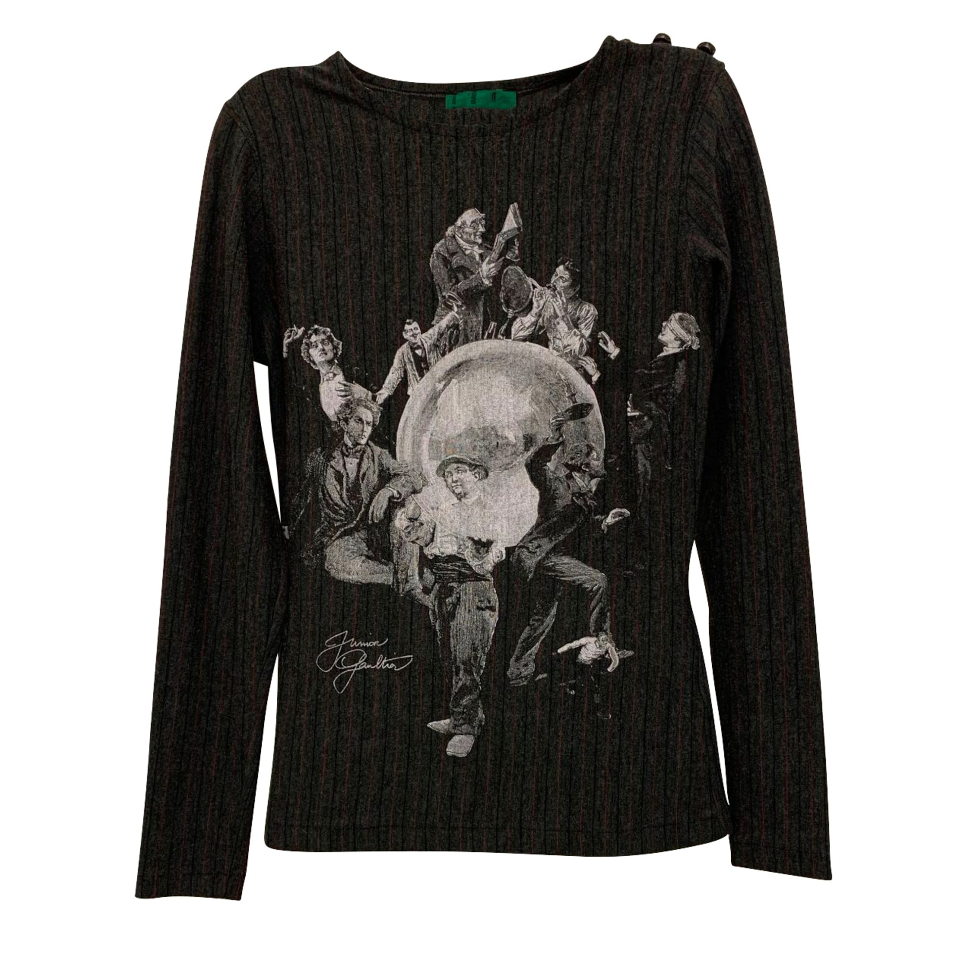 Top, tee-shirt JEAN PAUL GAULTIER Gris, anthracite