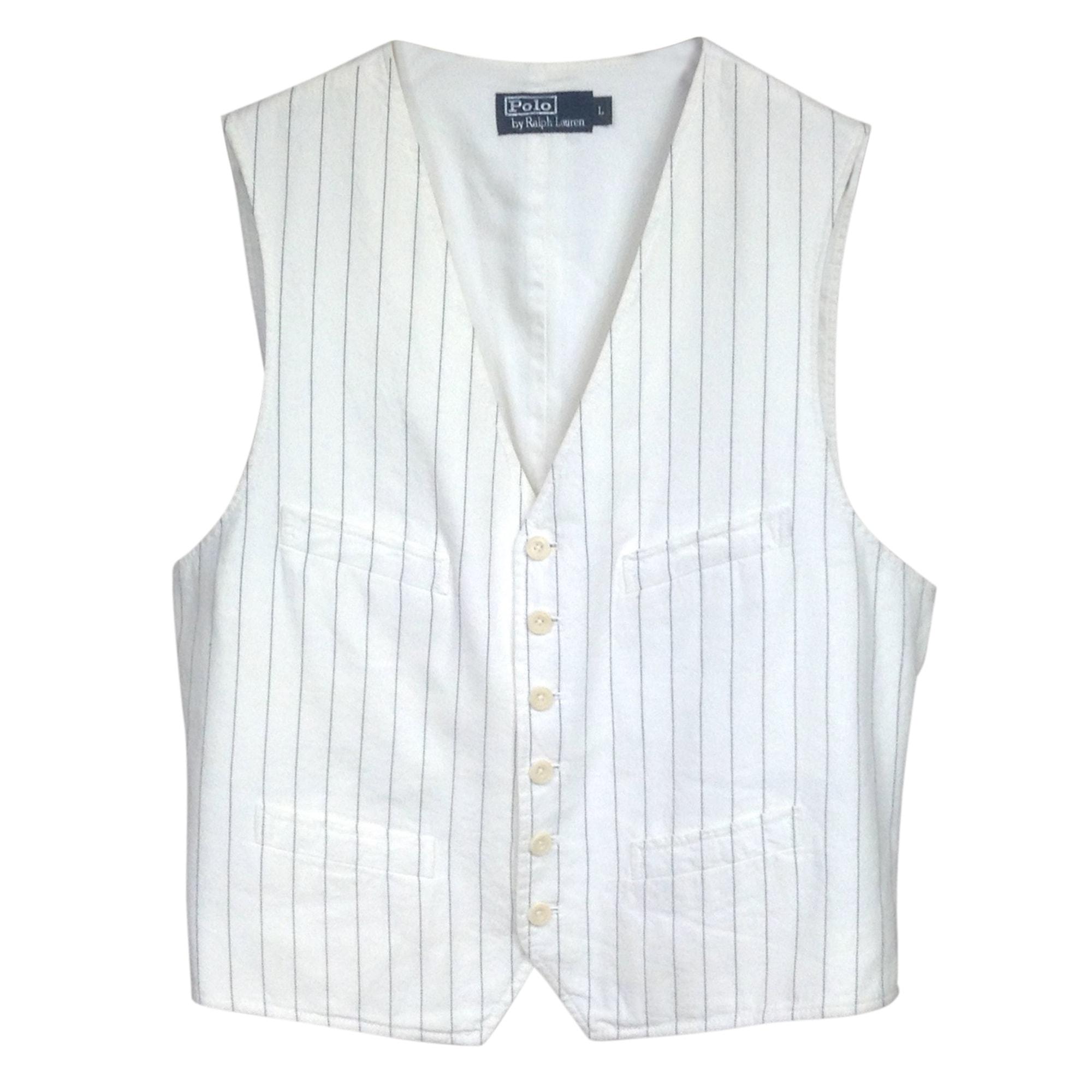 Gilet de costume RALPH LAUREN Blanc, blanc cassé, écru
