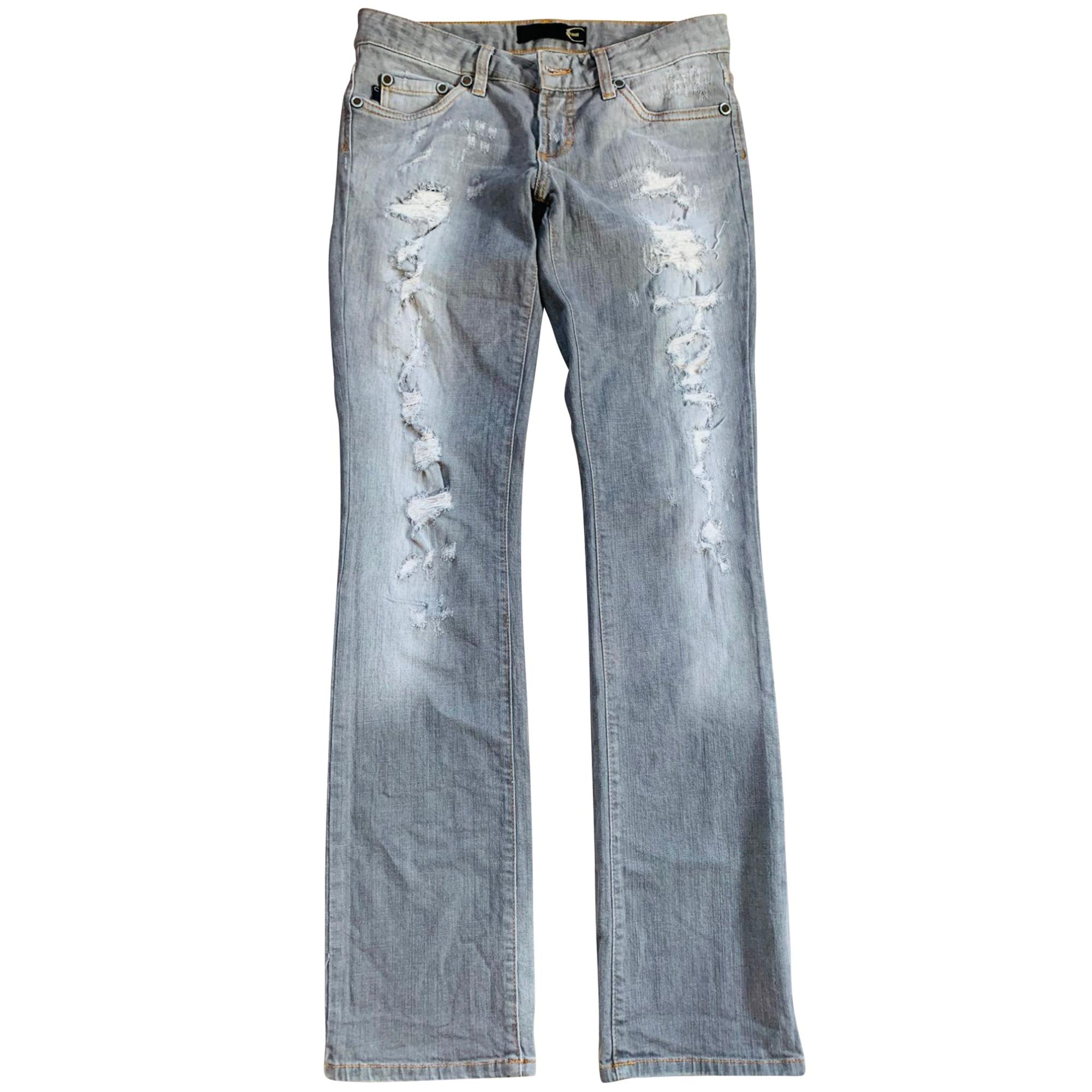 Jeans droit JUST CAVALLI Gris, anthracite
