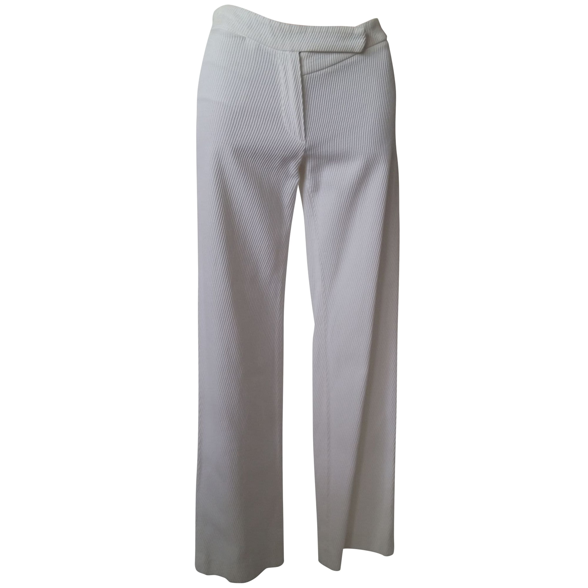 Pantalon droit ANN DEMEULEMEESTER Blanc, blanc cassé, écru