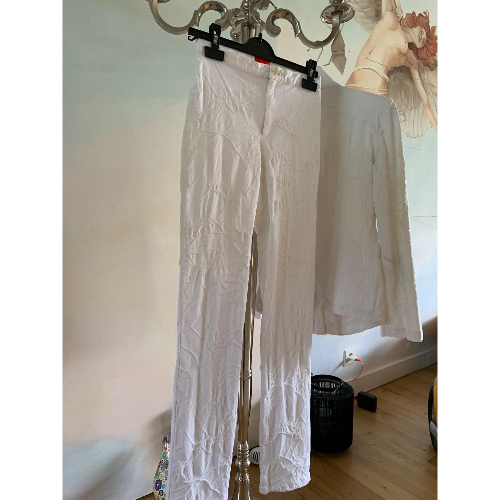 Tailleur pantalon CHRISTIAN LACROIX Blanc, blanc cassé, écru