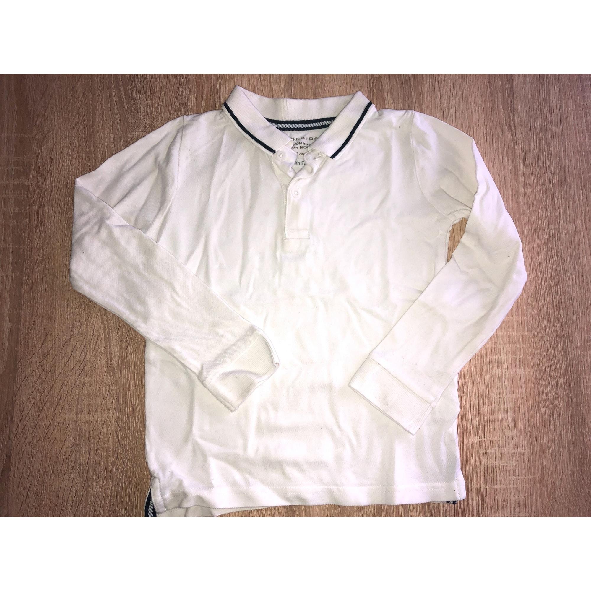 Polo MONOPRIX Blanc, blanc cassé, écru