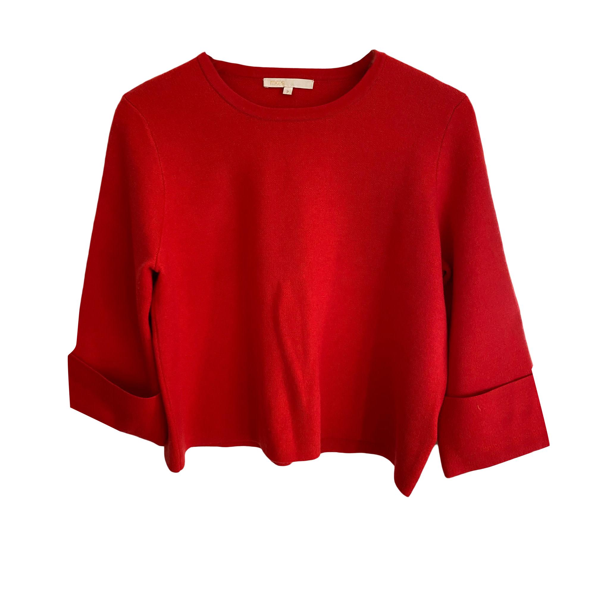 Sweater MAJE Red, burgundy