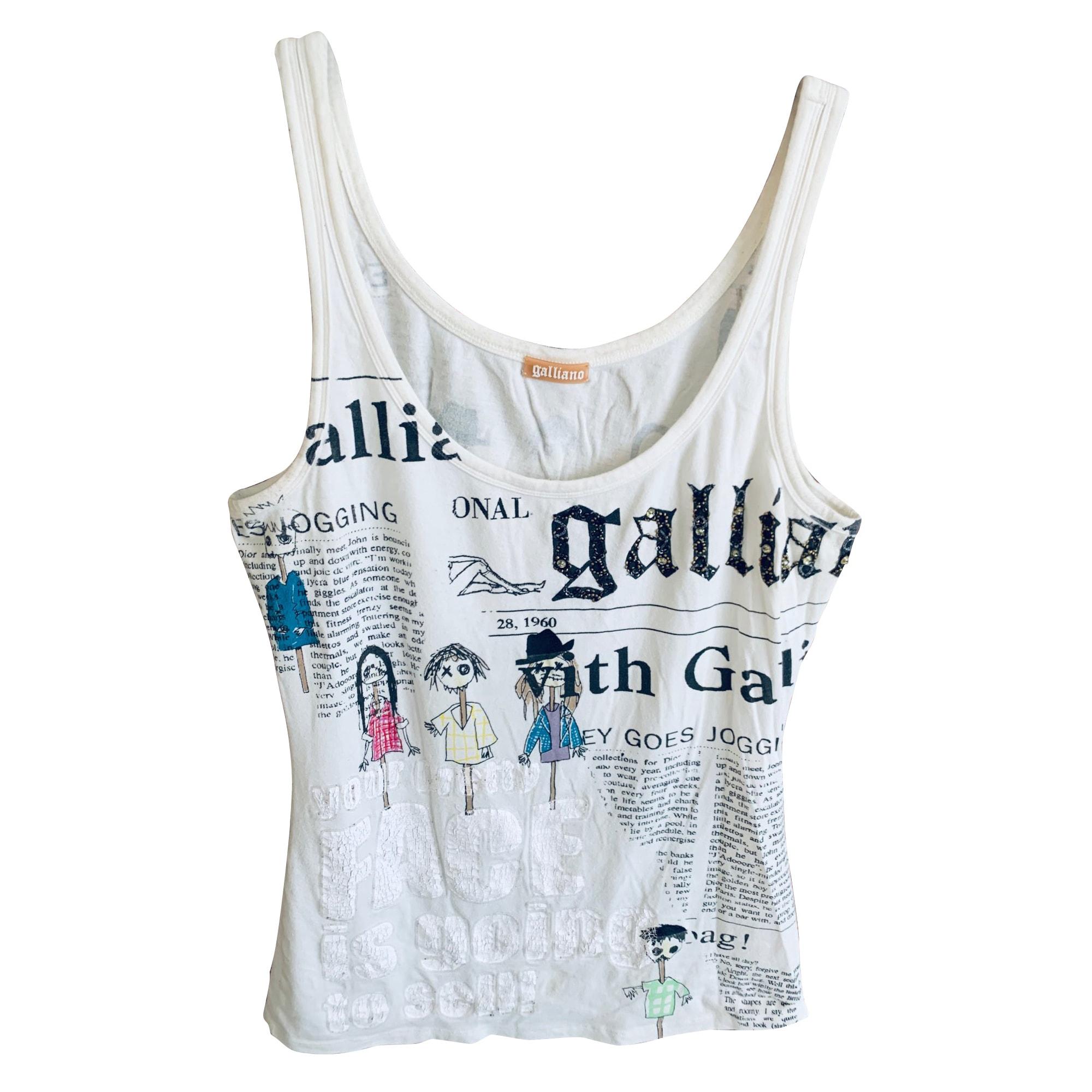 Top, tee-shirt JOHN GALLIANO Multicouleur