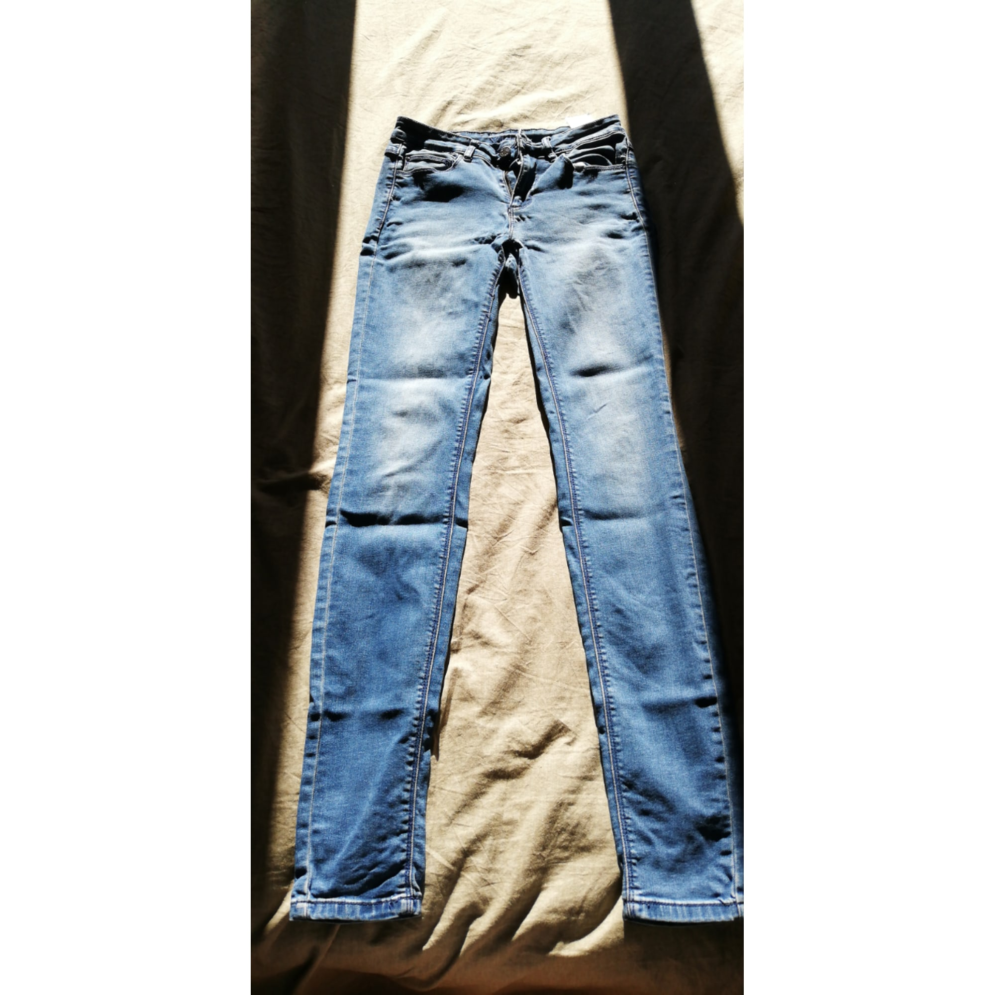 Pantalon slim, cigarette VILA Bleu, bleu marine, bleu turquoise