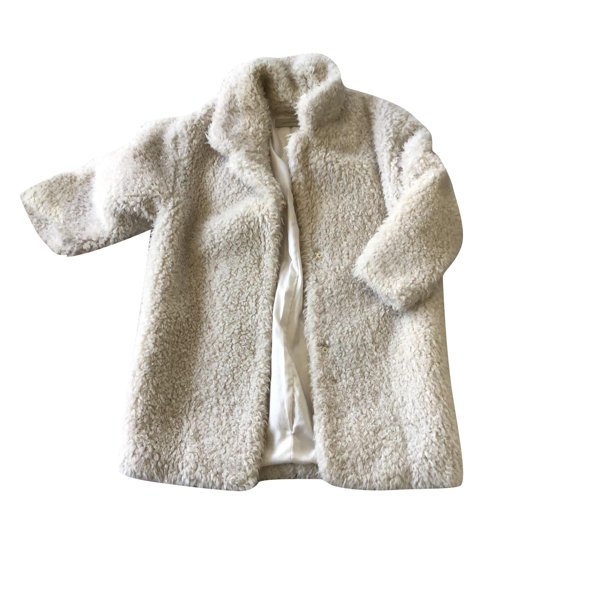 Manteau GERARD DAREL Blanc, blanc cassé, écru