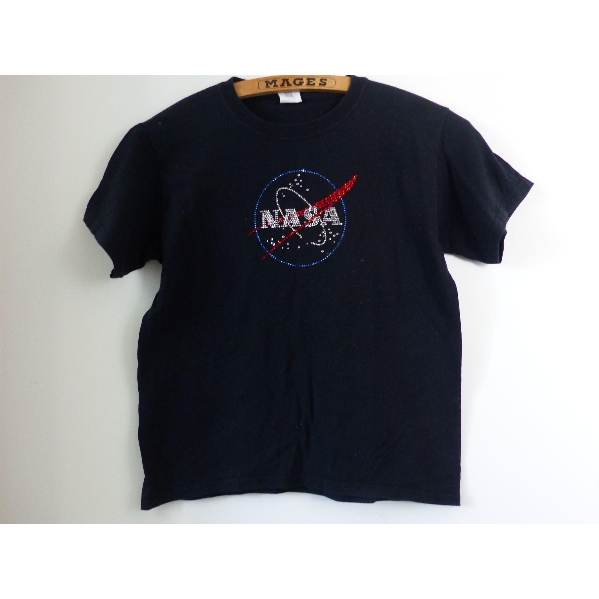 Top, Tee-shirt GILDAN Noir
