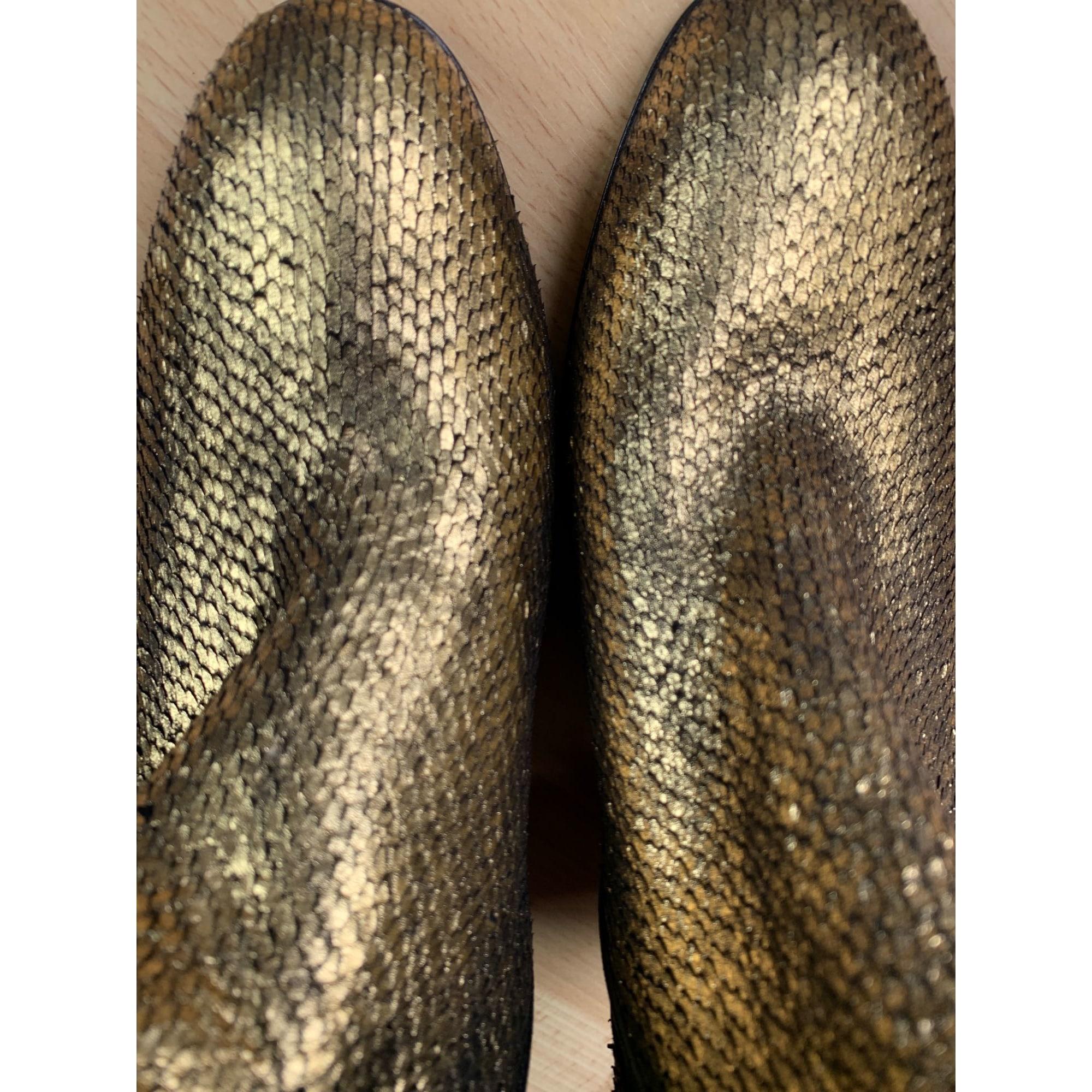 Bottes à talons VERO CUOIO Doré, bronze, cuivre