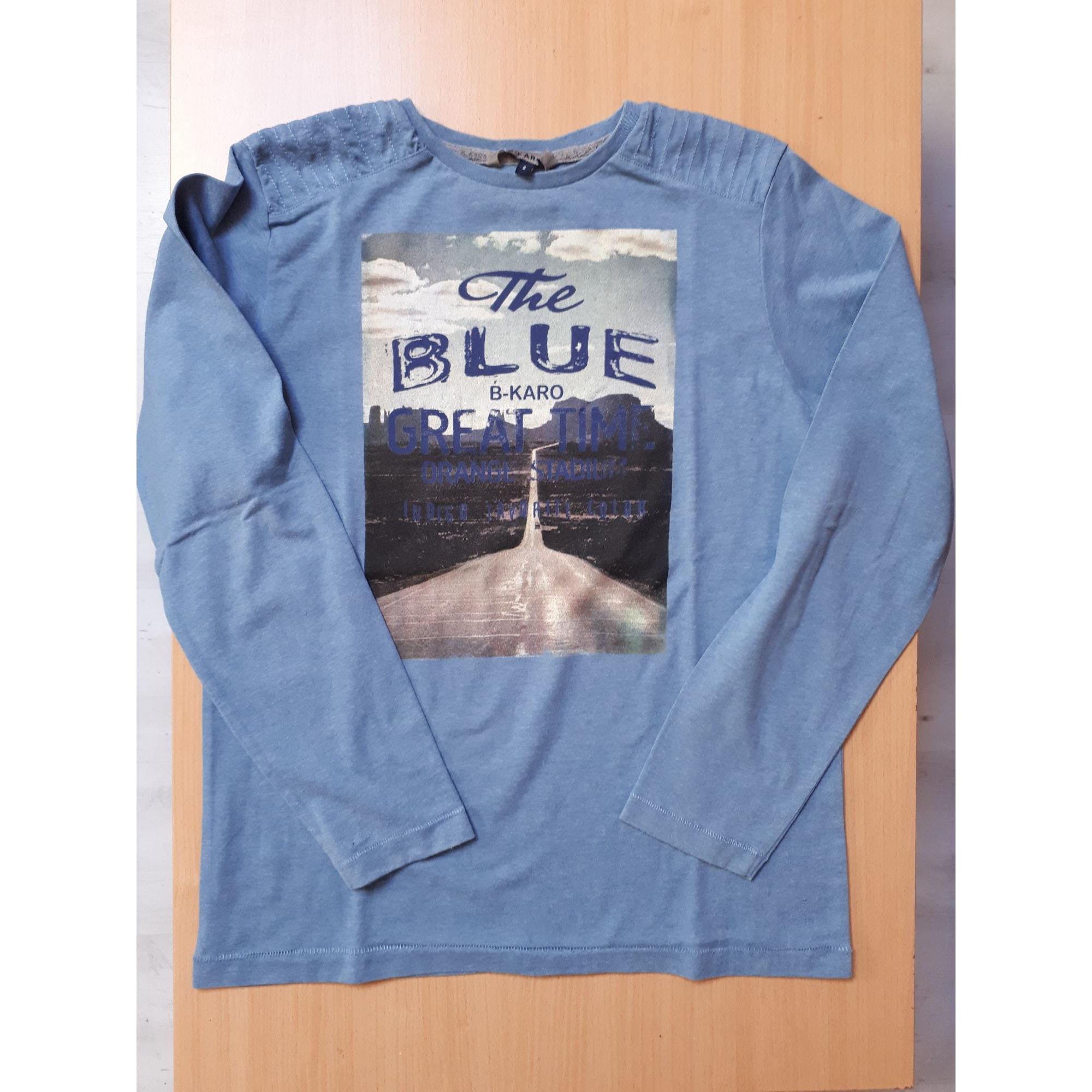 Tee-shirt B-KARO Bleu, bleu marine, bleu turquoise
