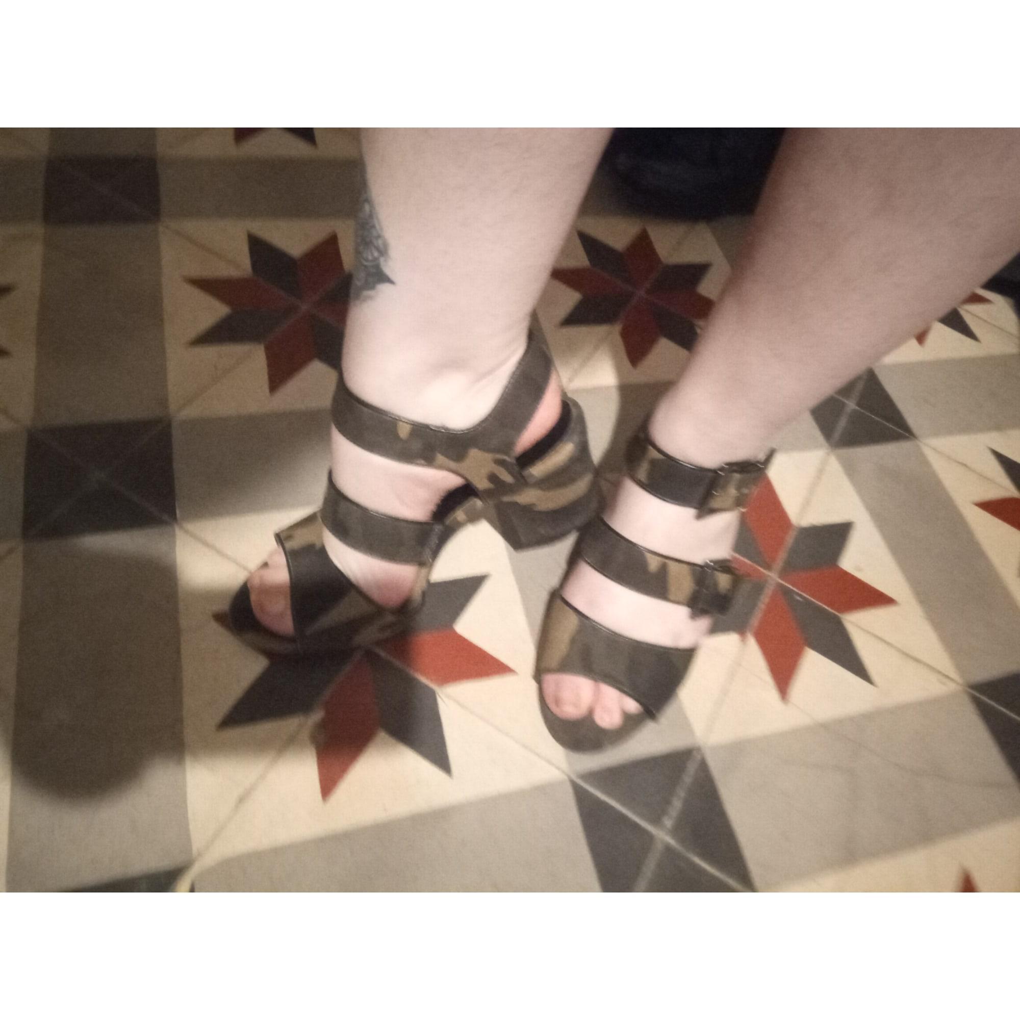 Sandales à talons KOOKAI Kaki