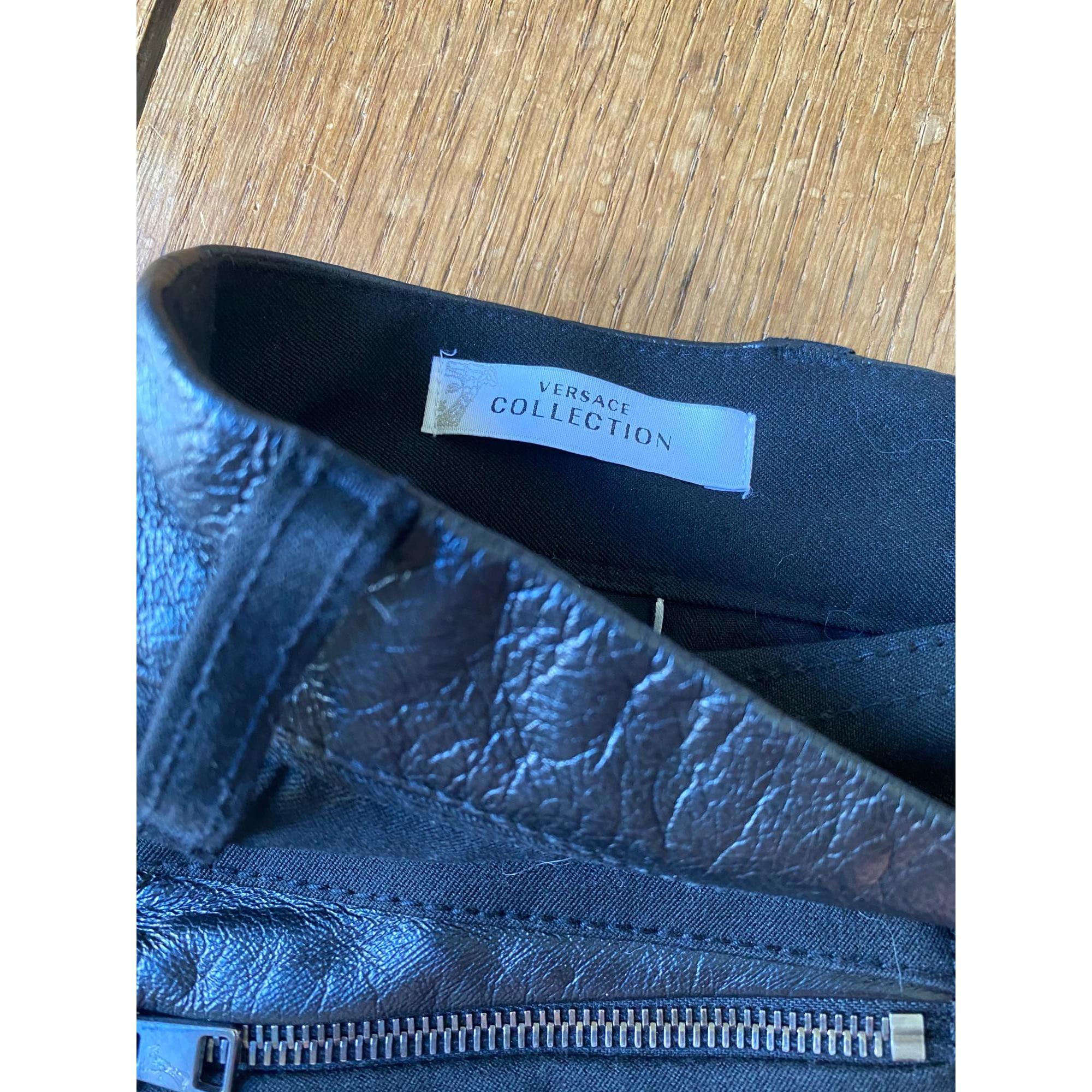 Jeans droit VERSACE Noir