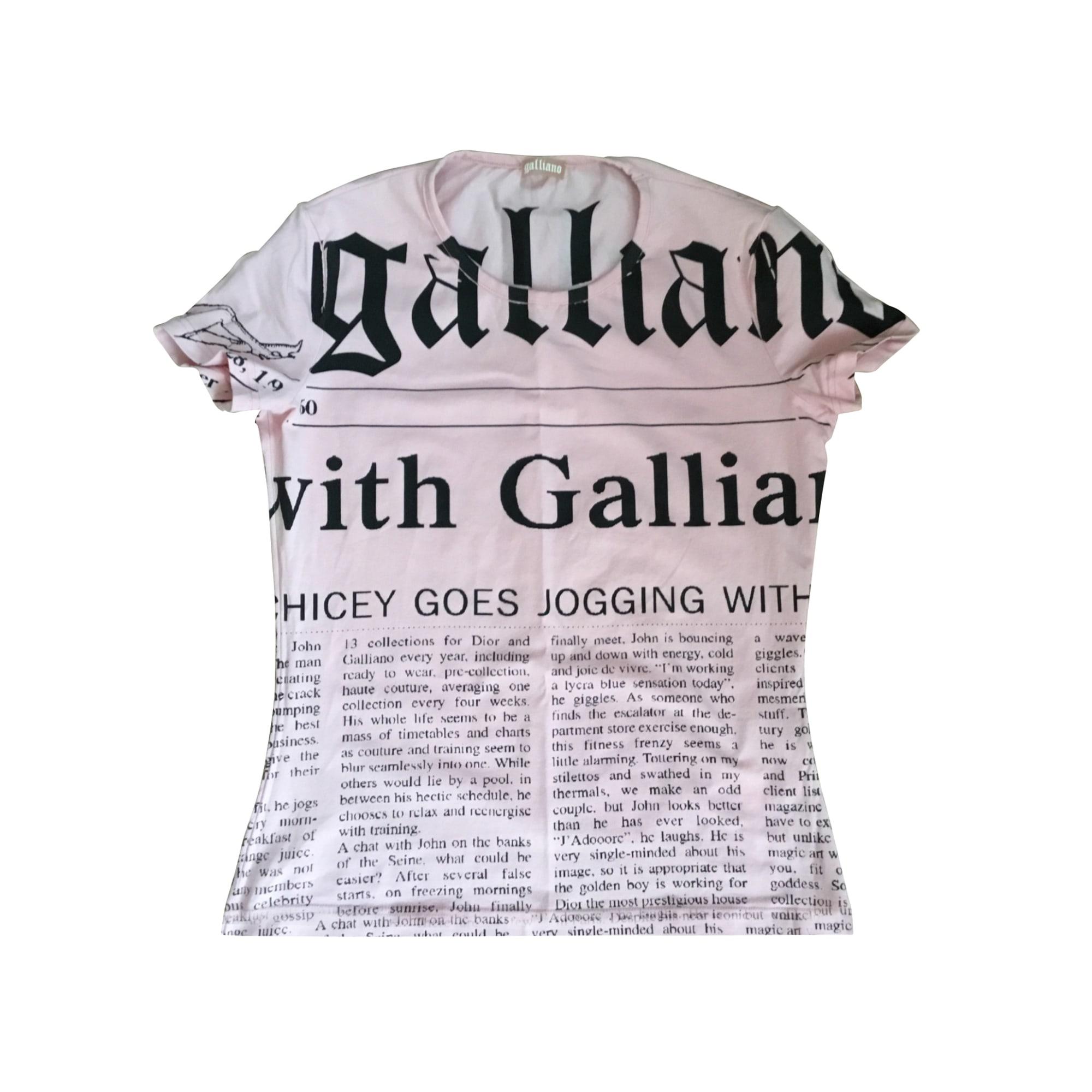 Top, tee-shirt JOHN GALLIANO Rose, fuschia, vieux rose