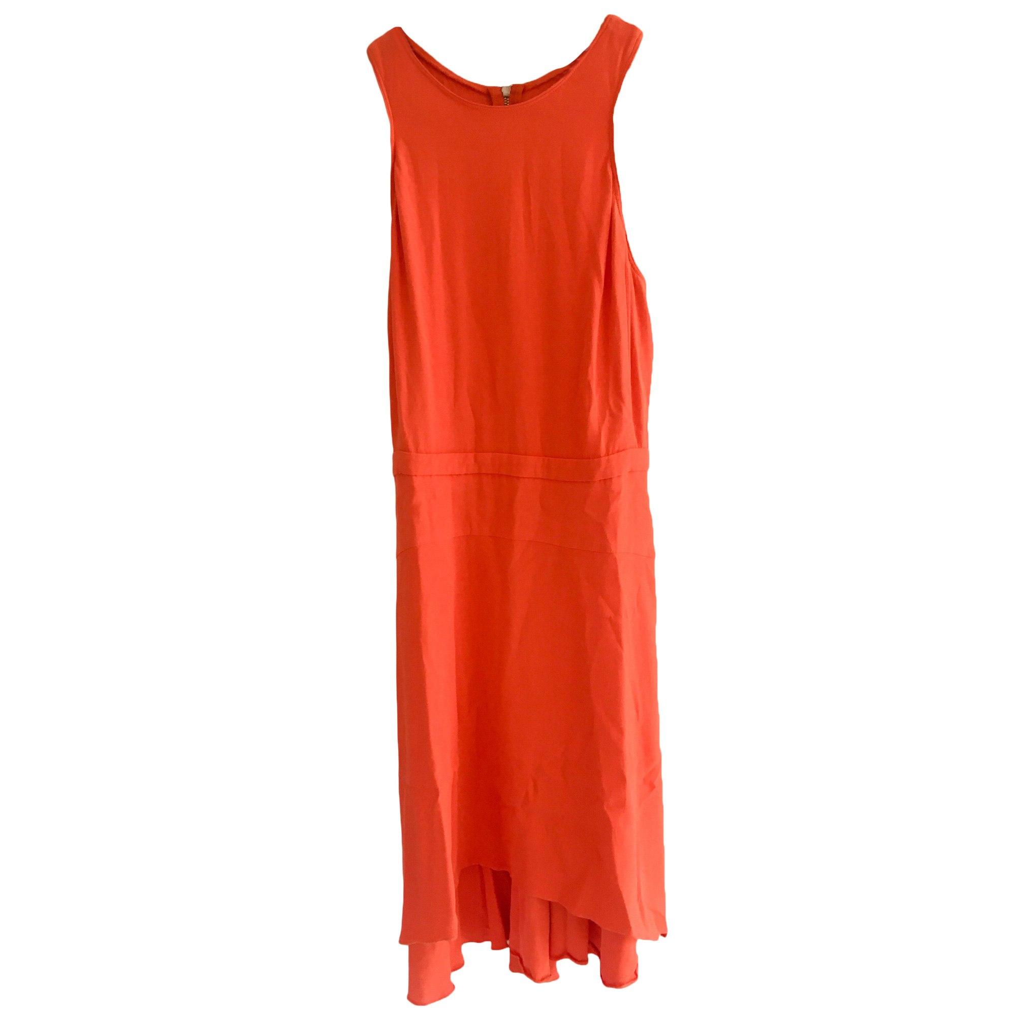 Robe mi-longue MAJE Orange