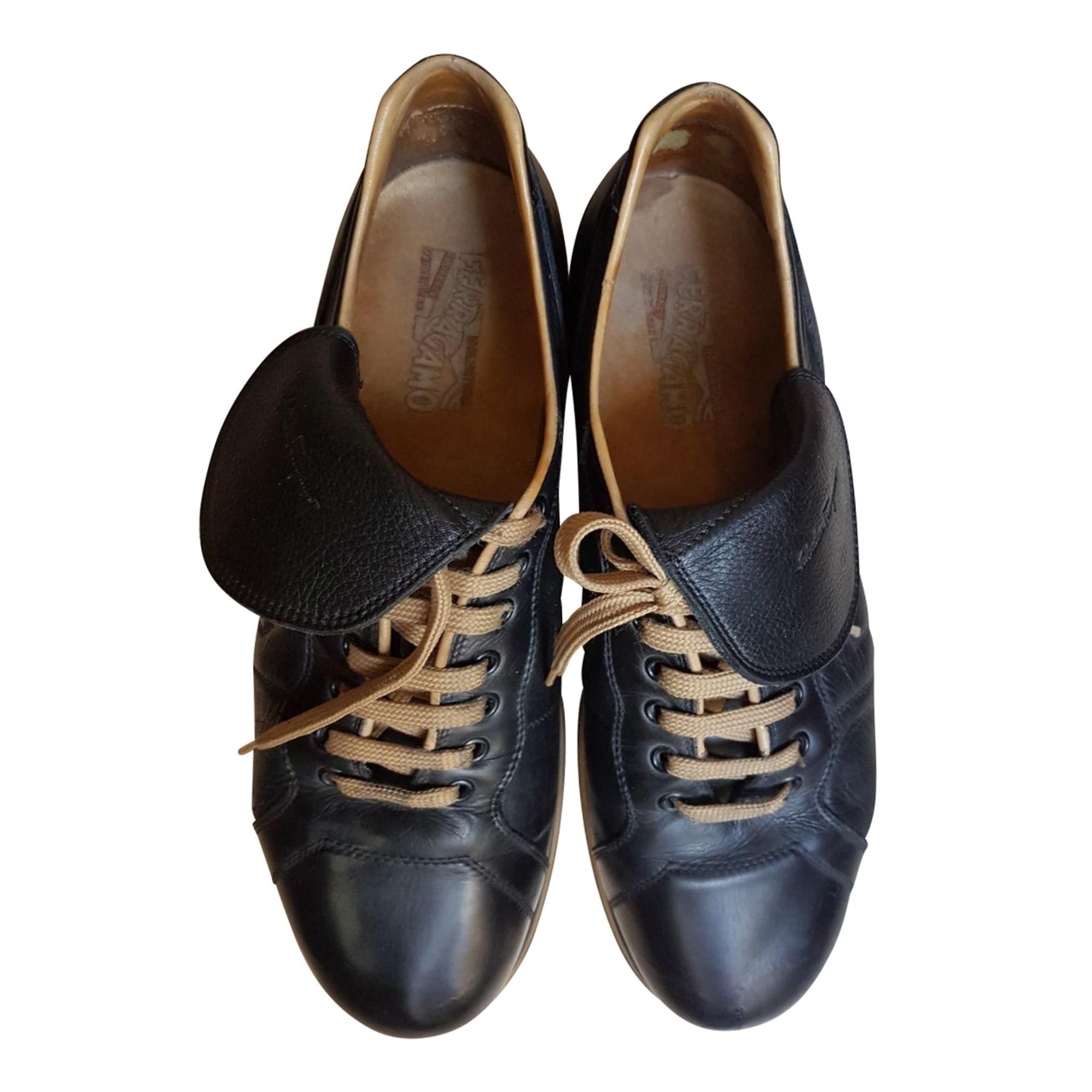 Chaussures à lacets SALVATORE FERRAGAMO Noir