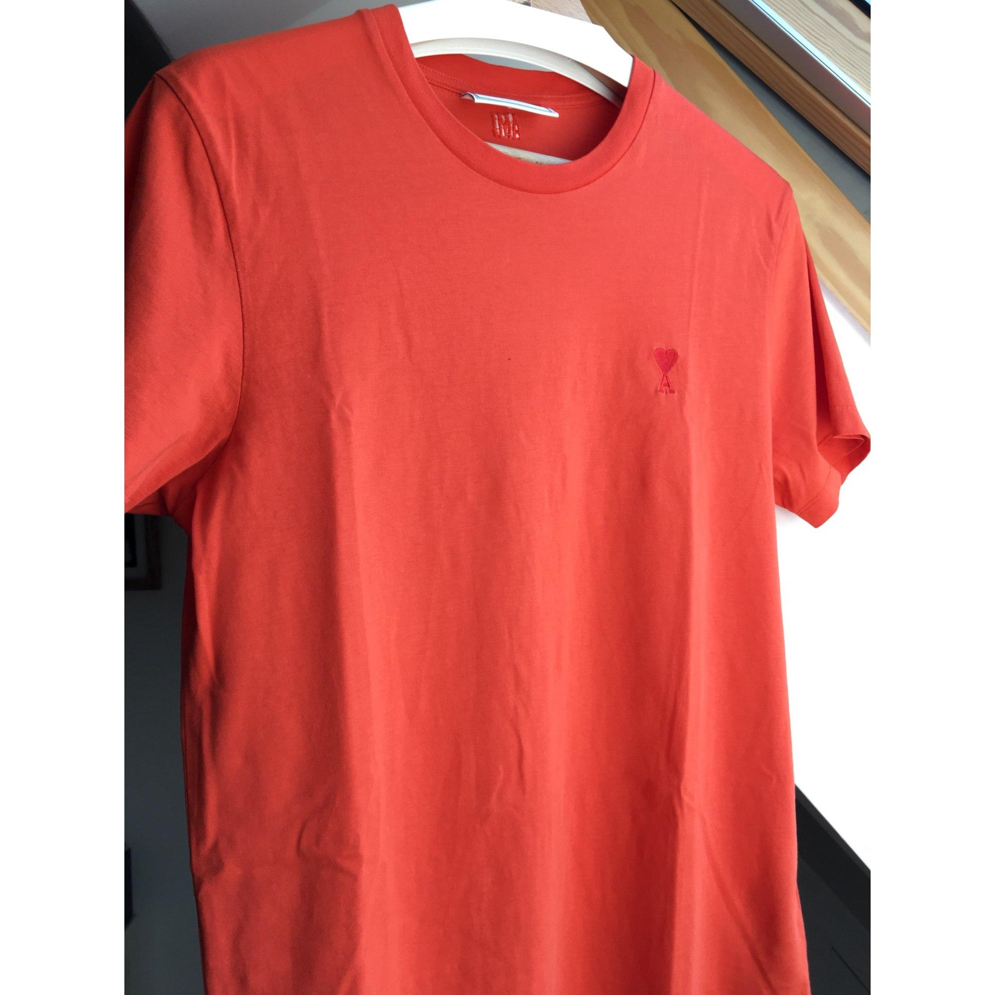 Tee-shirt AMI Orange
