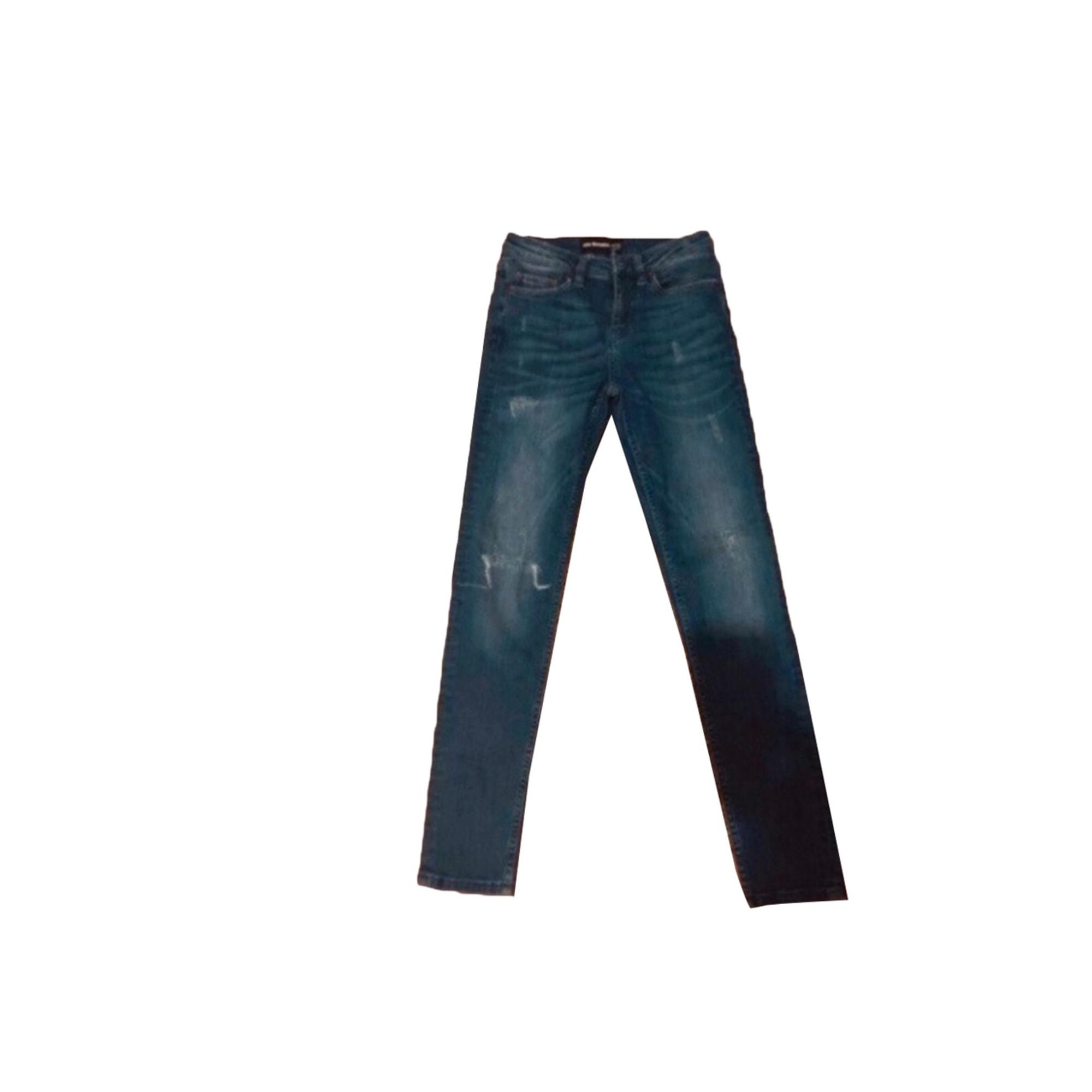 Pantalon slim, cigarette THE KOOPLES Bleu, bleu marine, bleu turquoise