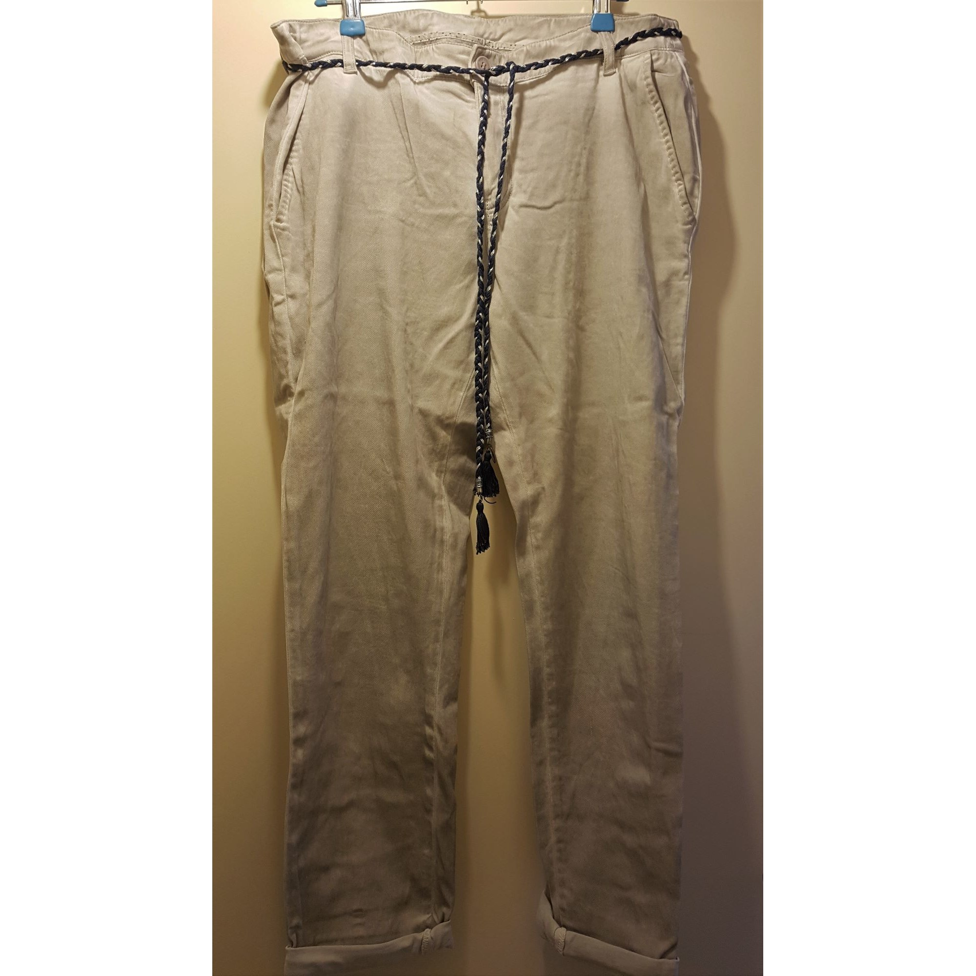 Pantalon droit IKKS Blanc, blanc cassé, écru