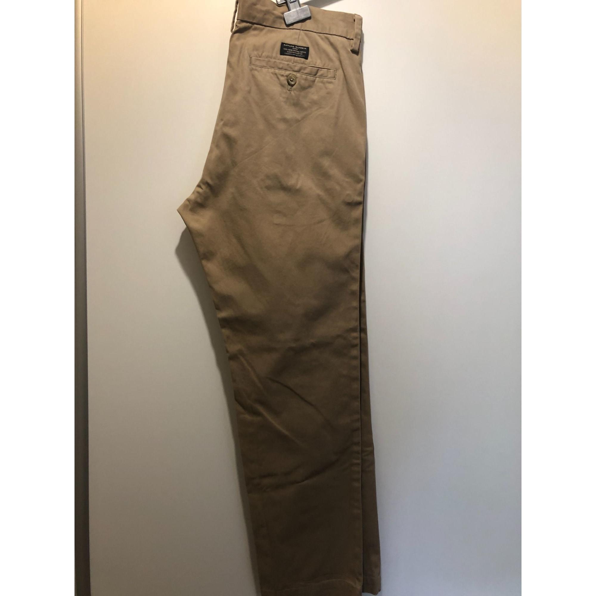 Pantalon droit BANANA REPUBLIC Beige, camel