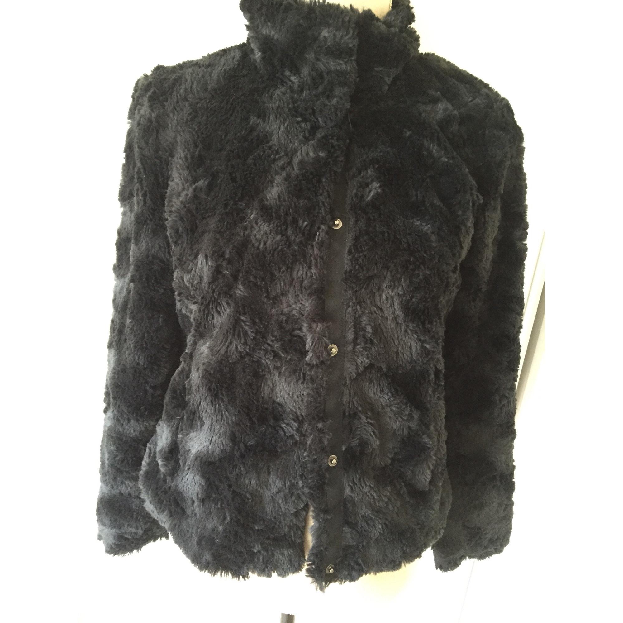 Blouson, veste en fourrure VERO MODA Noir
