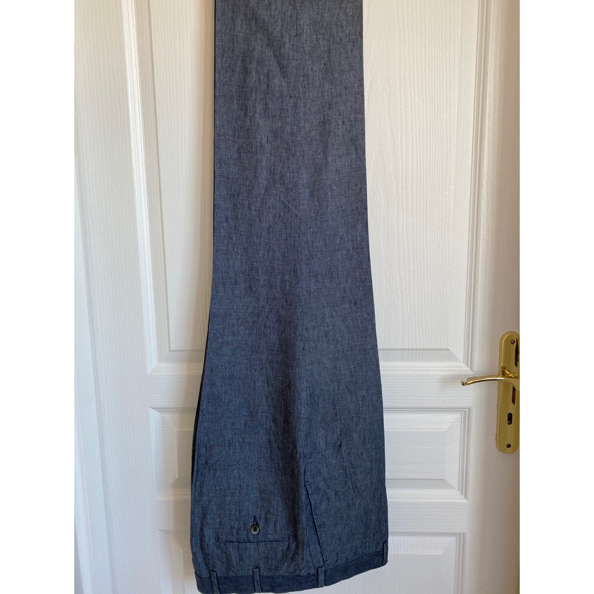 Pantalon de costume BERETTA Bleu, bleu marine, bleu turquoise