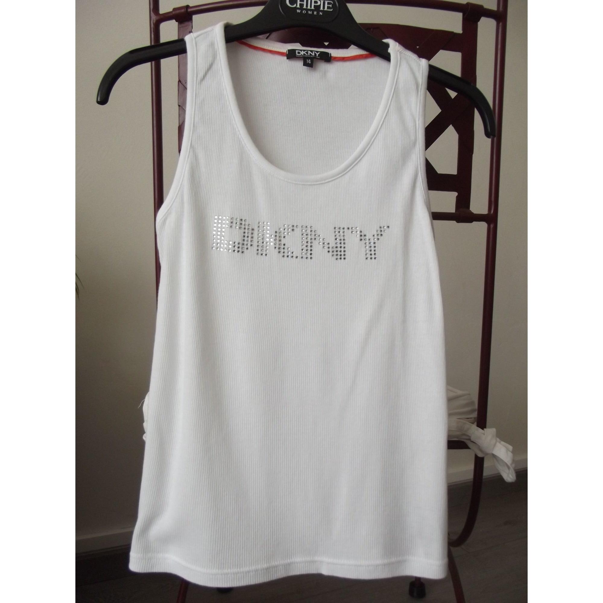 Débardeur DKNY Blanc, blanc cassé, écru