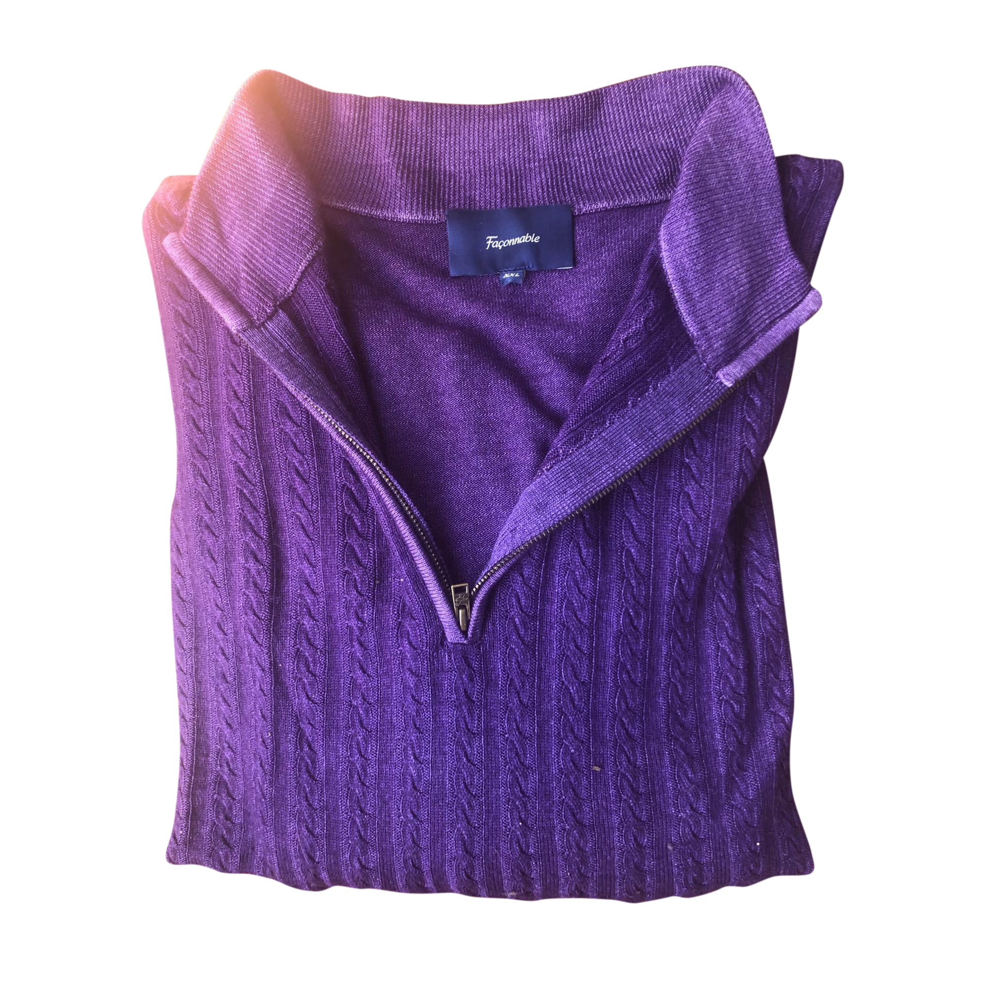 Pull FAÇONNABLE Violet, mauve, lavande
