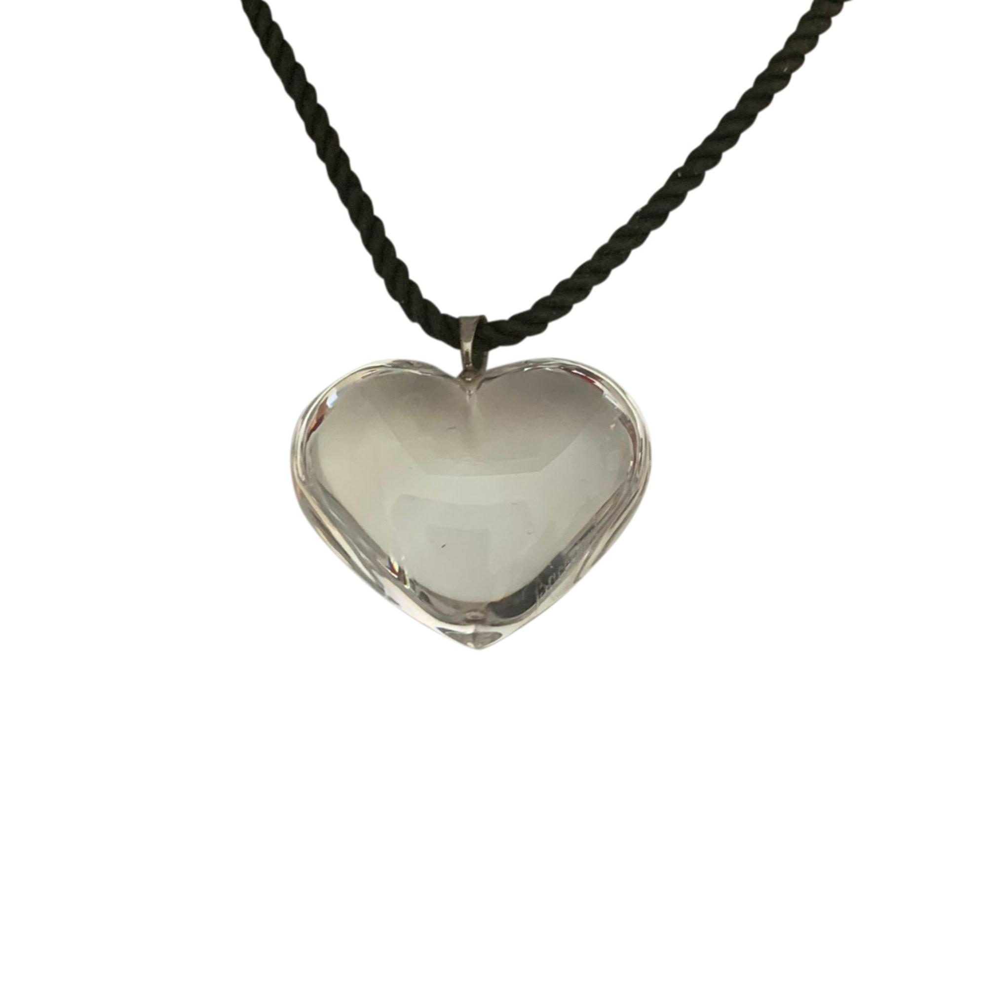 Pendentif, collier pendentif BACCARAT Transparent