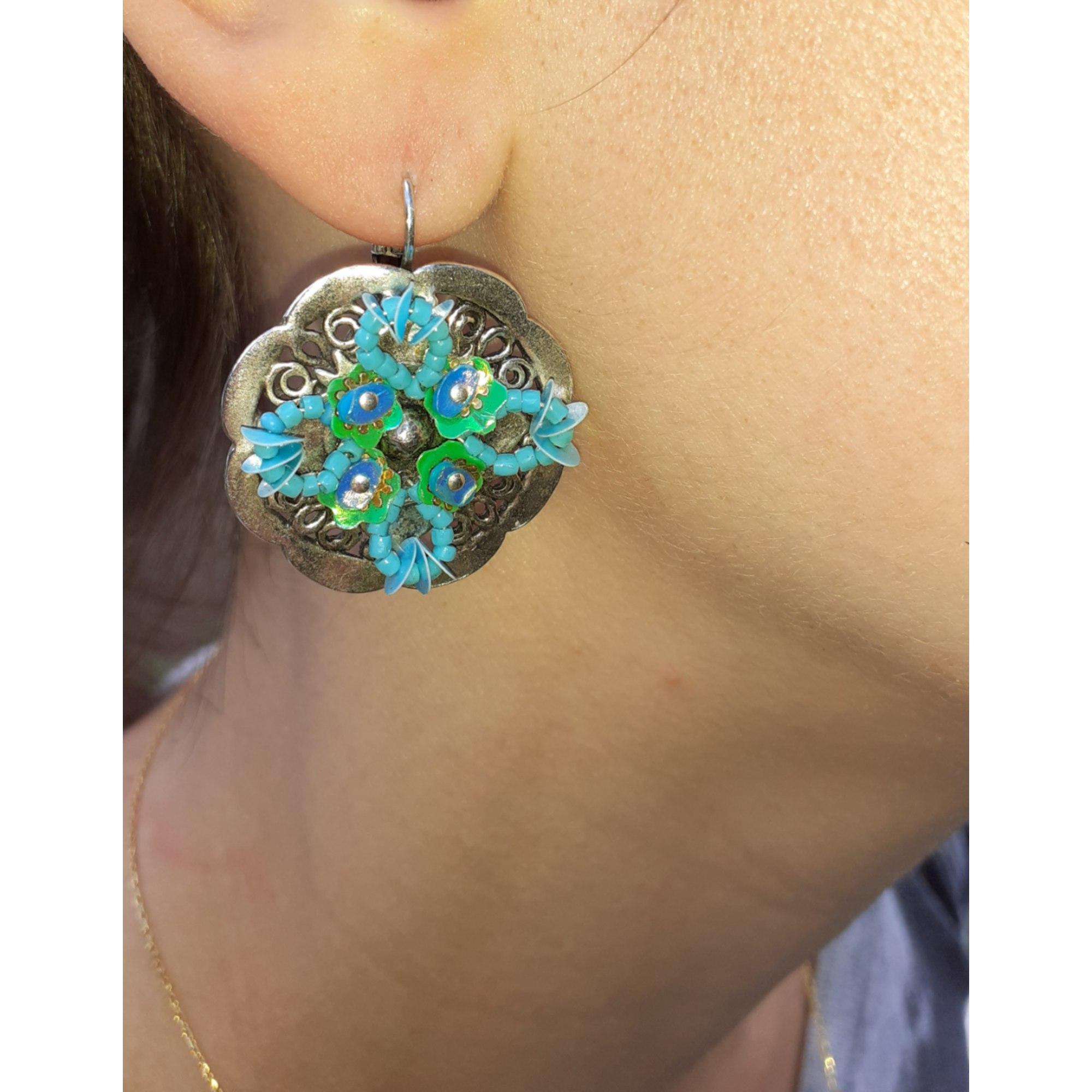 Boucles d'oreille GAS BIJOUX Bleu, bleu marine, bleu turquoise