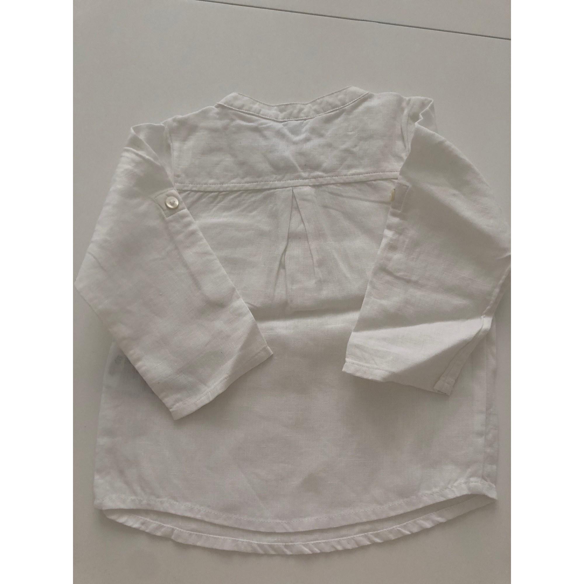 Chemise JACADI Blanc, blanc cassé, écru