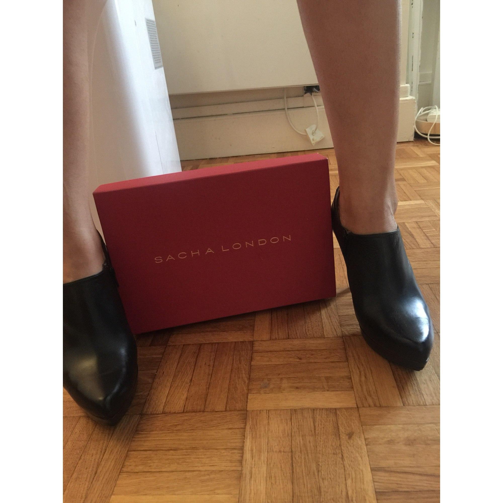 Bottines & low boots à talons SACHA LONDON Noir