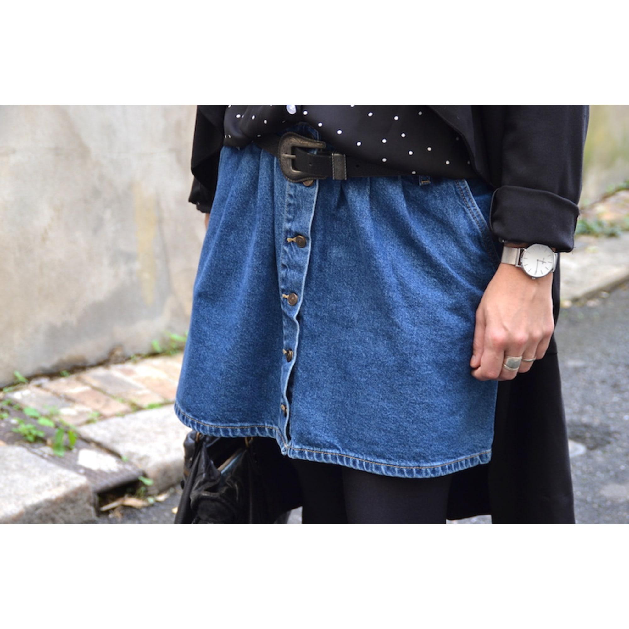 Jupe en jean ZARA Bleu, bleu marine, bleu turquoise
