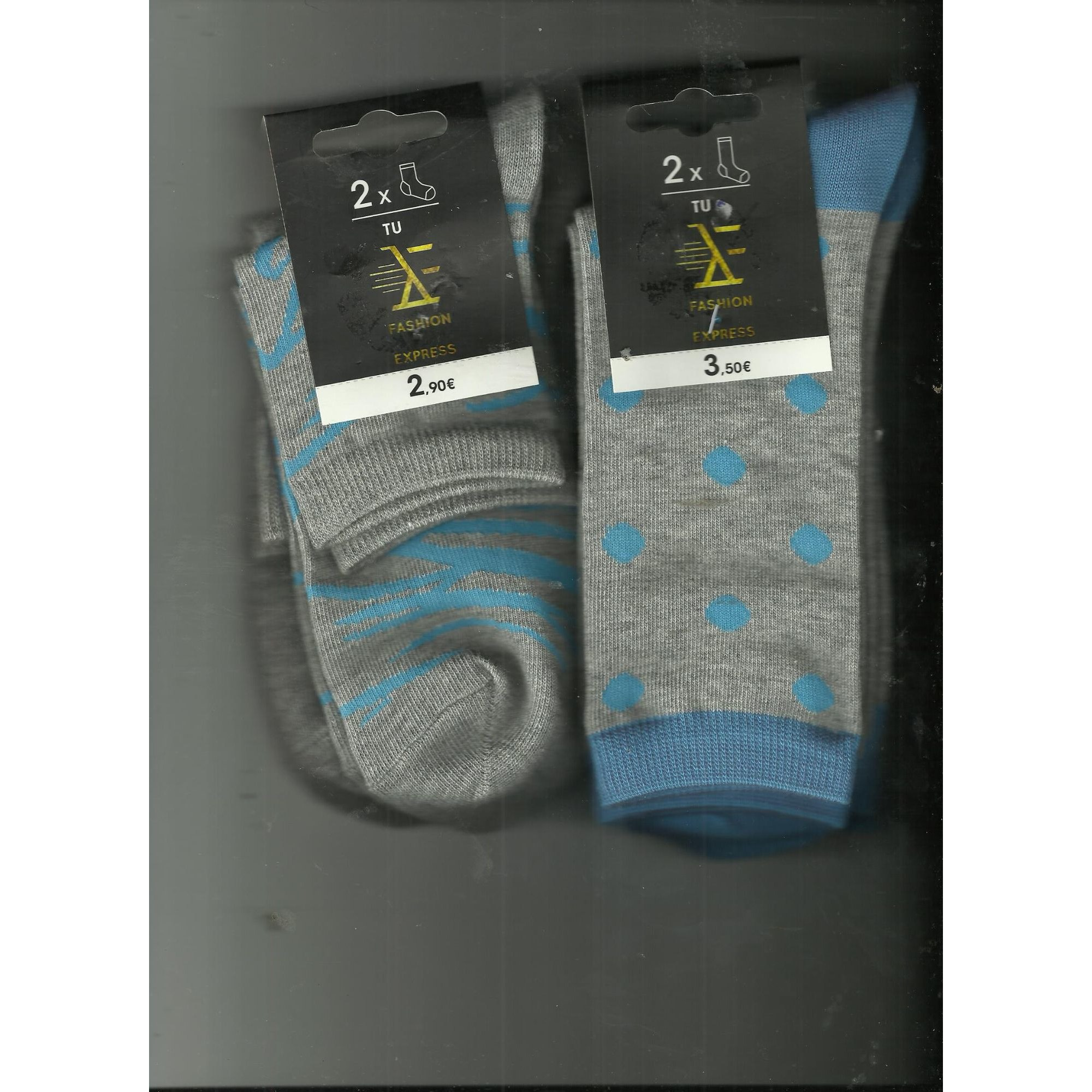 Chaussettes  TEX Gris, anthracite