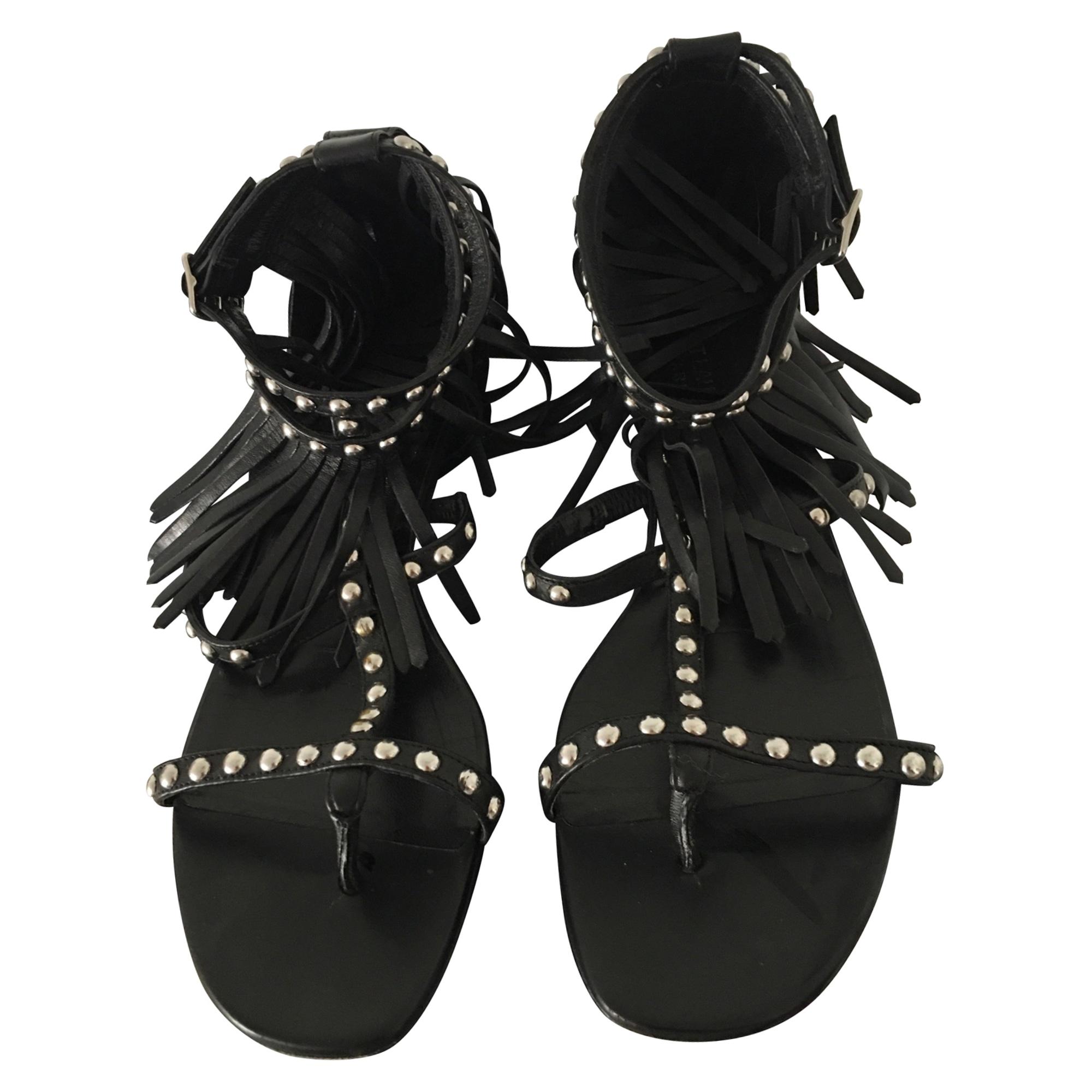 Sandales plates  SAINT LAURENT Noir