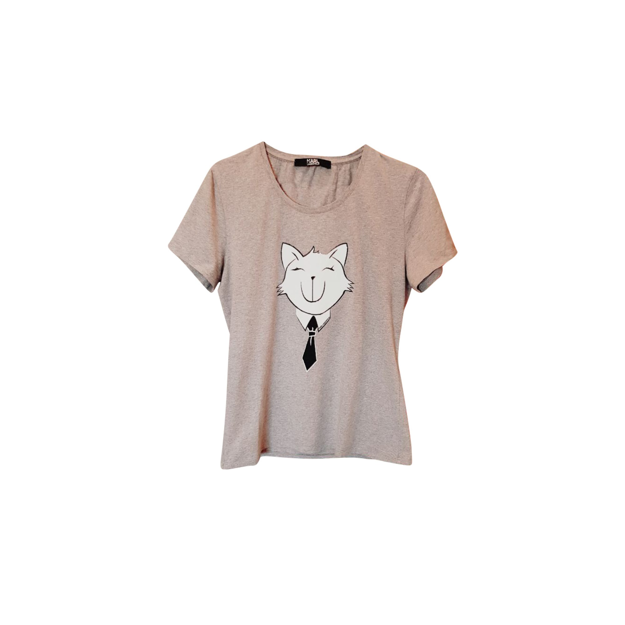 Top, tee-shirt KARL LAGERFELD Gris, anthracite