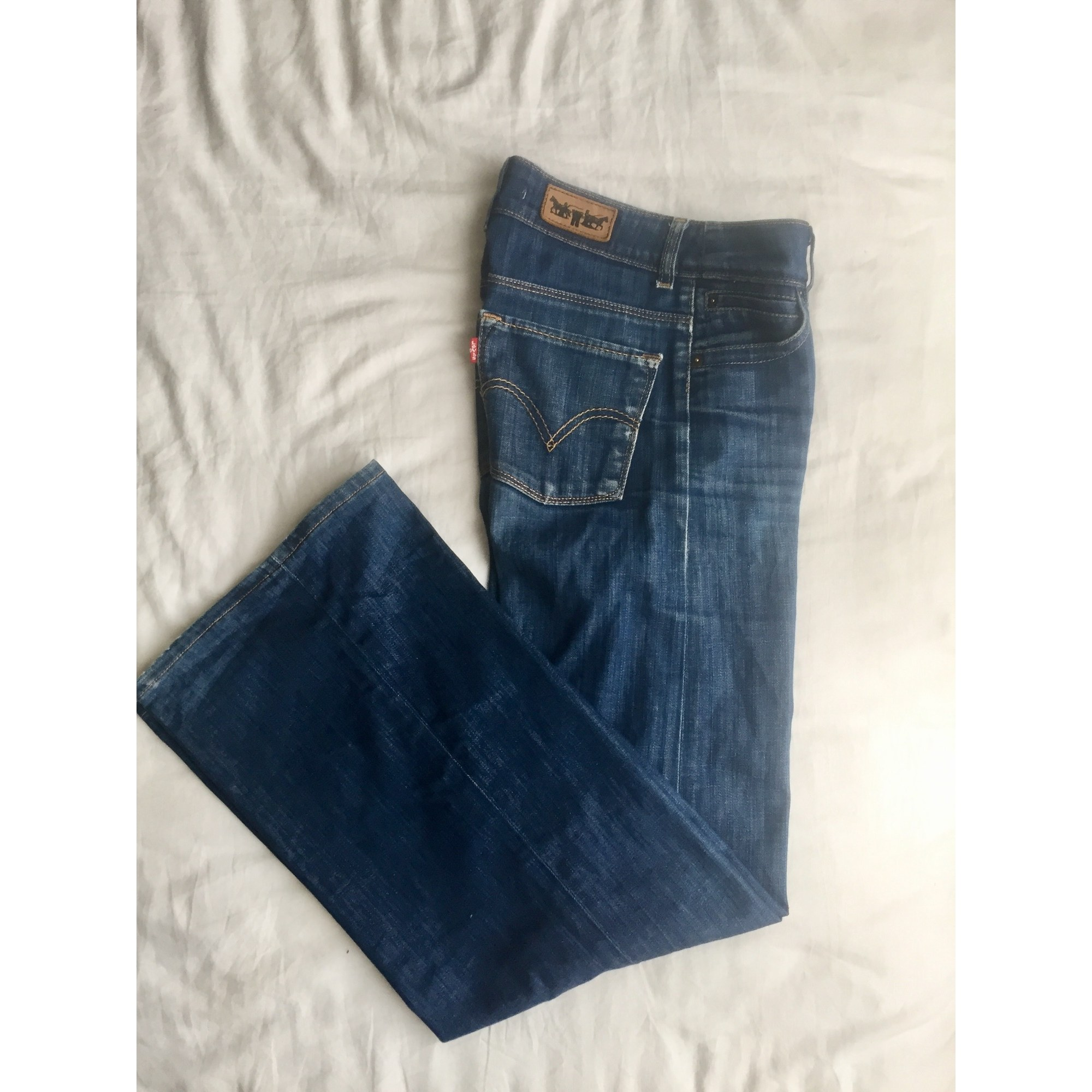 Pantalon très evasé, patte d'éléphant LEVI'S Bleu, bleu marine, bleu turquoise