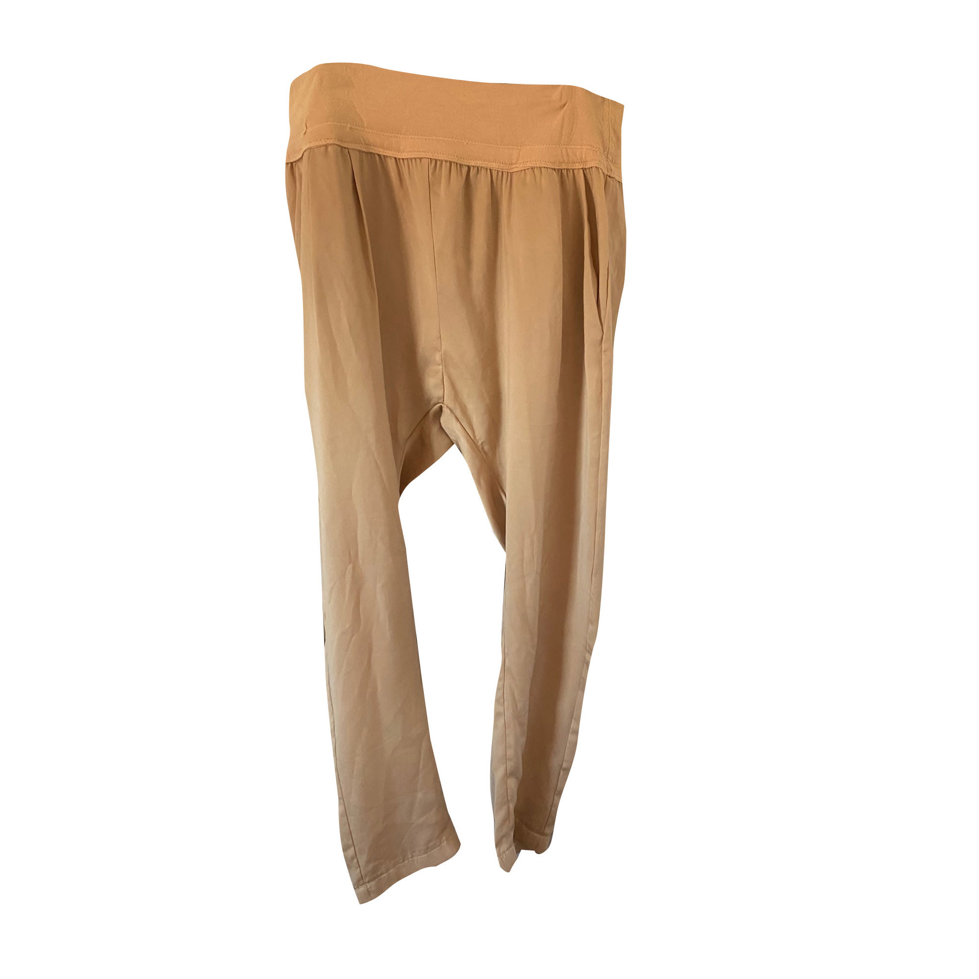 Pantalon très evasé, patte d'éléphant PATRIZIA PEPE Beige, camel