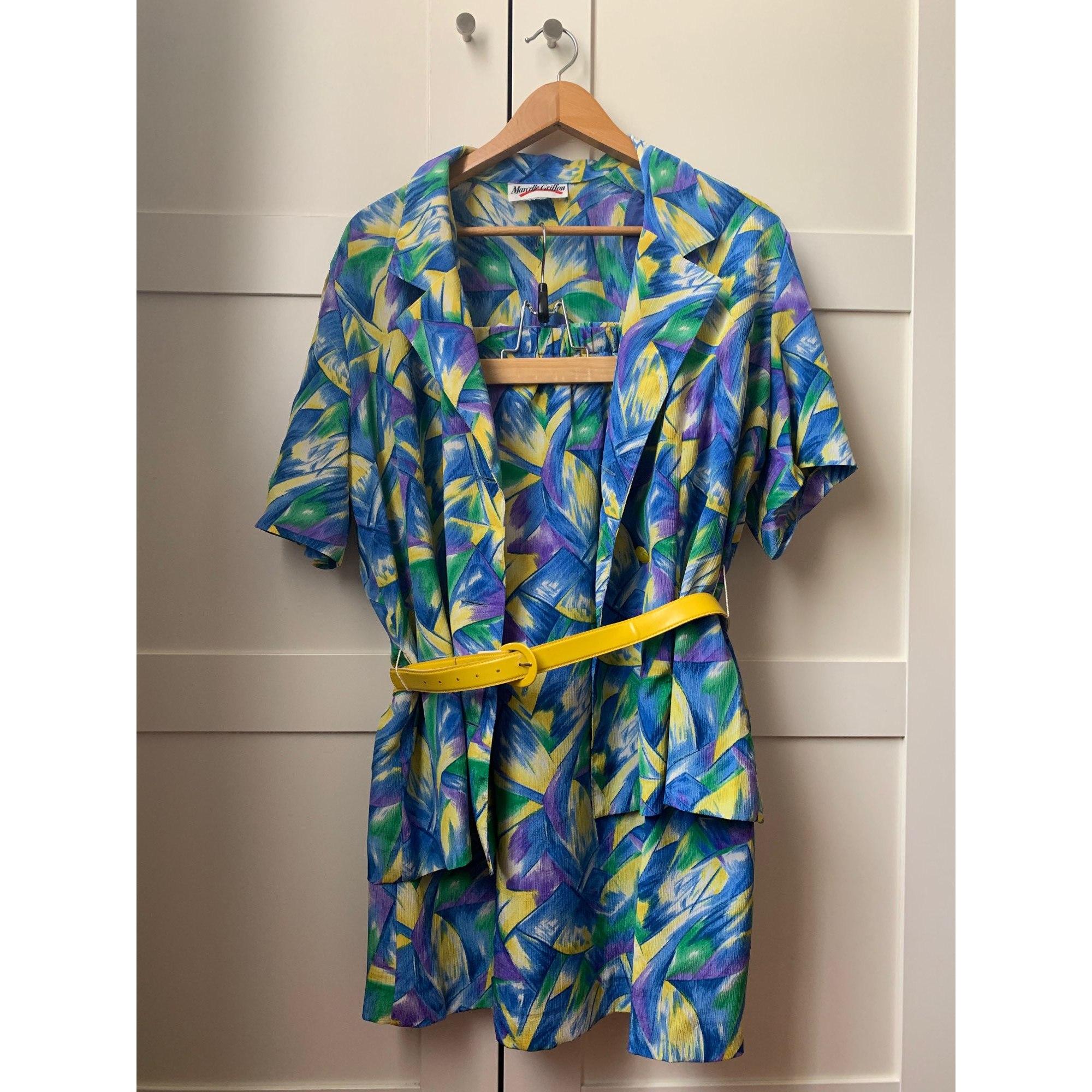 Tailleur jupe MARCELLE GRIFFON Bleu, bleu marine, bleu turquoise