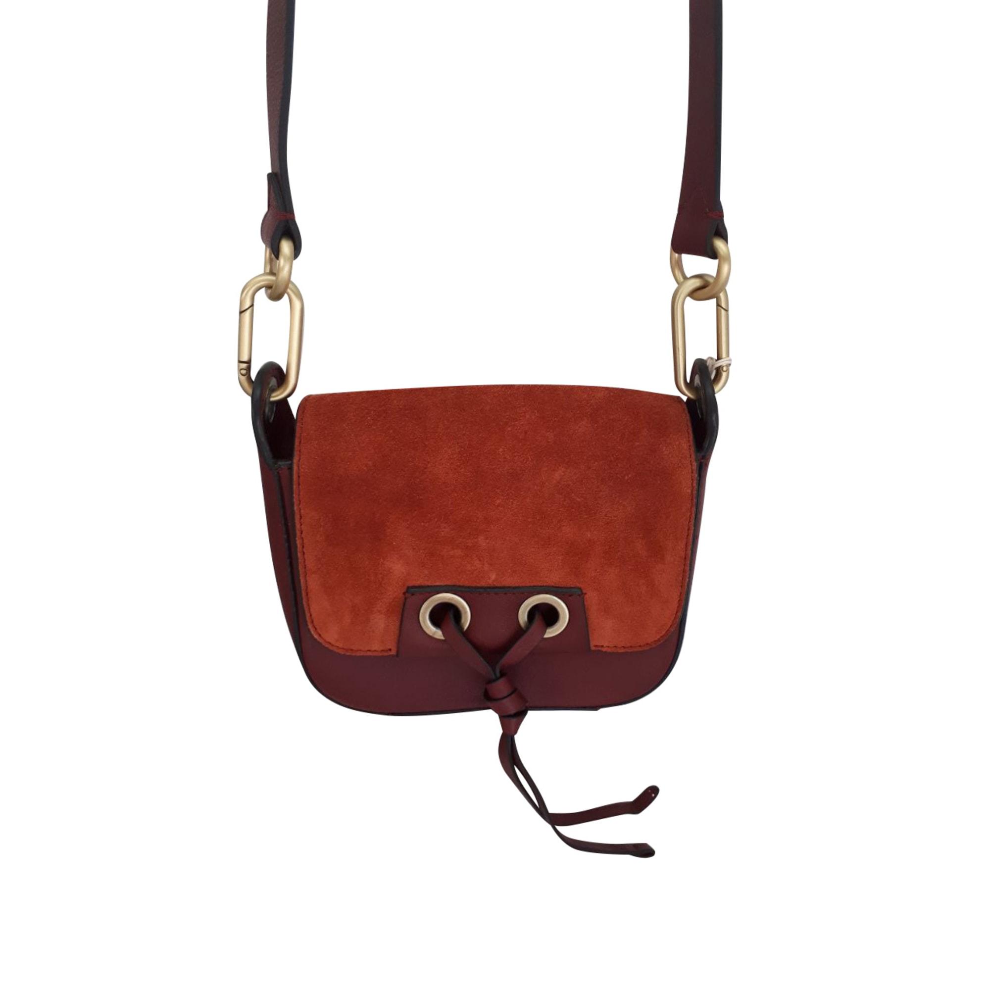 Leather Shoulder Bag VANESSA BRUNO Red, burgundy