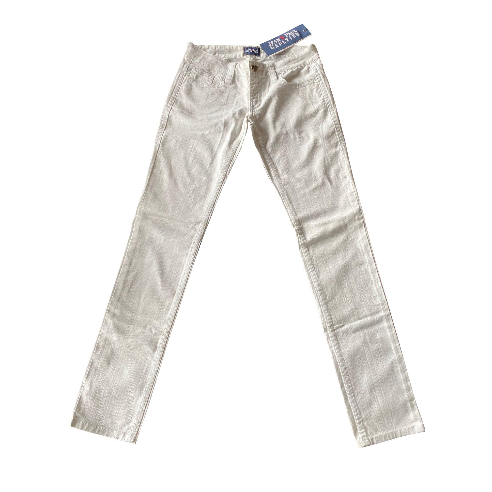 Jeans droit JEAN PAUL GAULTIER Blanc, blanc cassé, écru