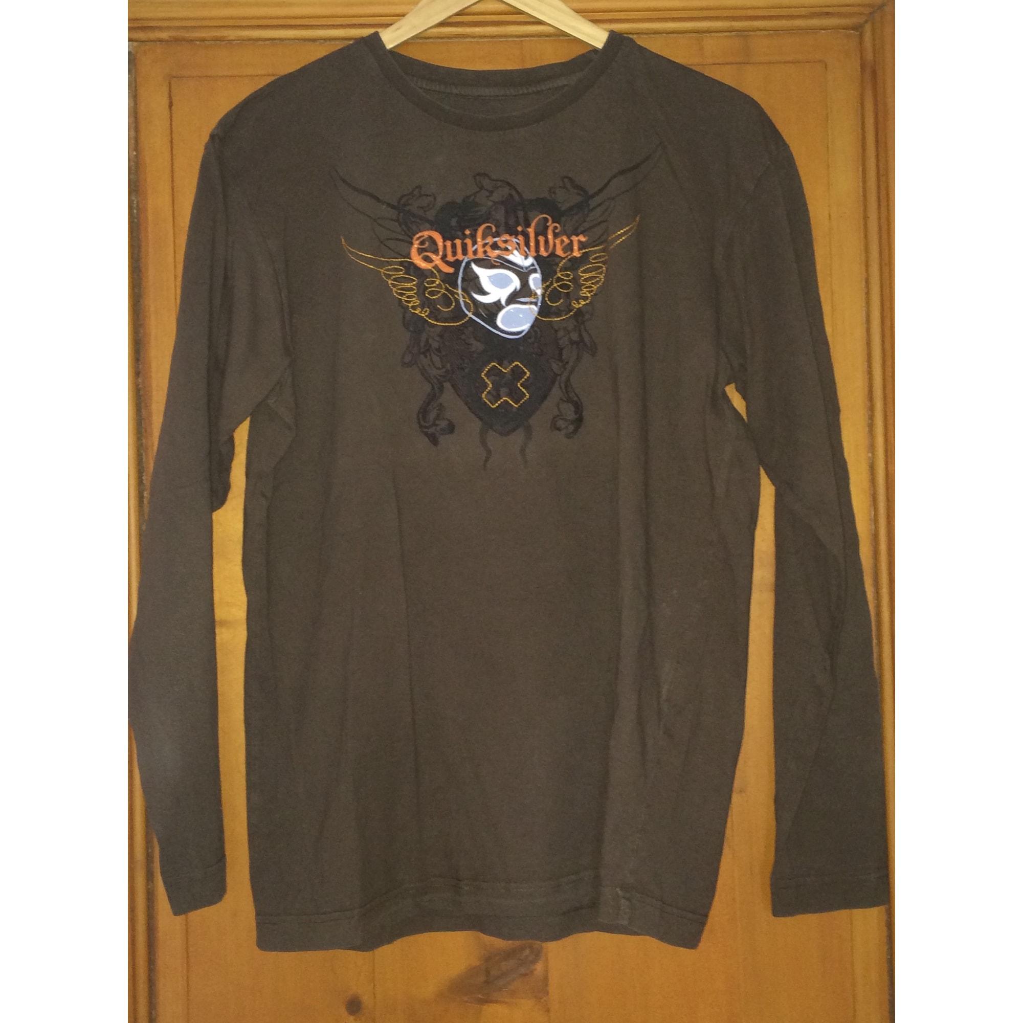 Tee-shirt QUIKSILVER Marron