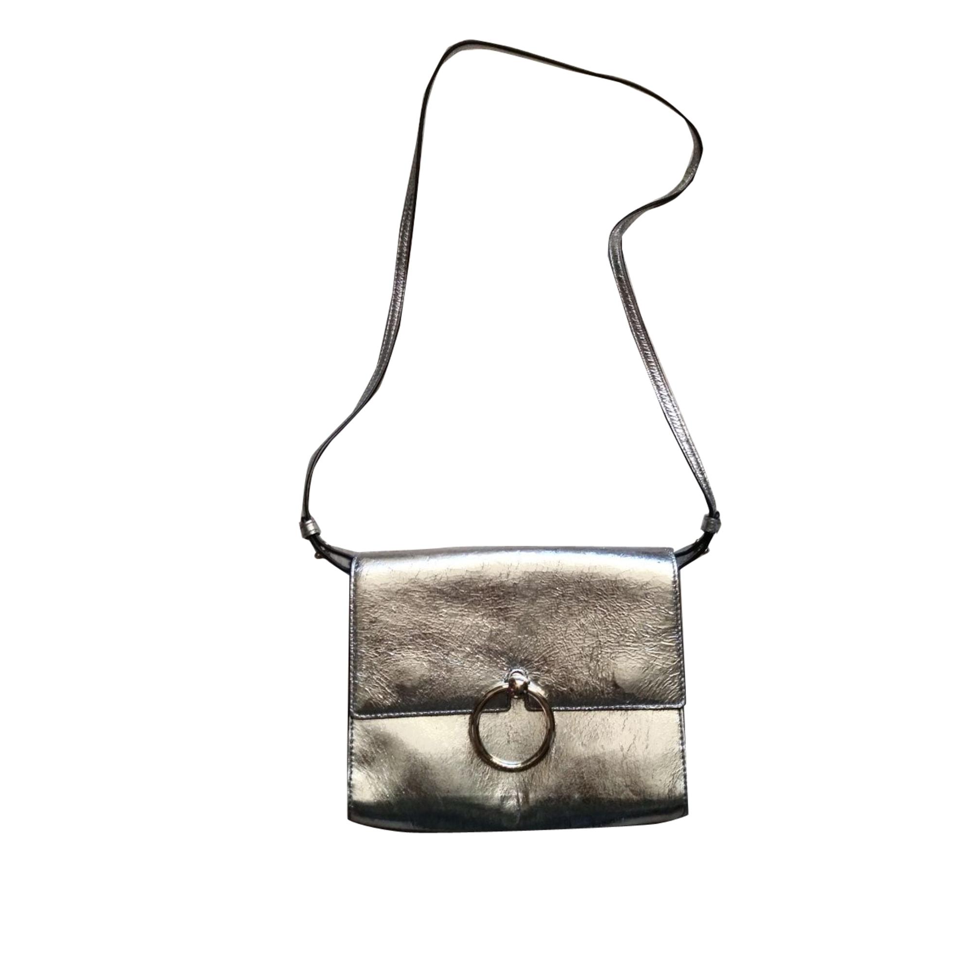 Leather Shoulder Bag CLAUDIE PIERLOT Silver